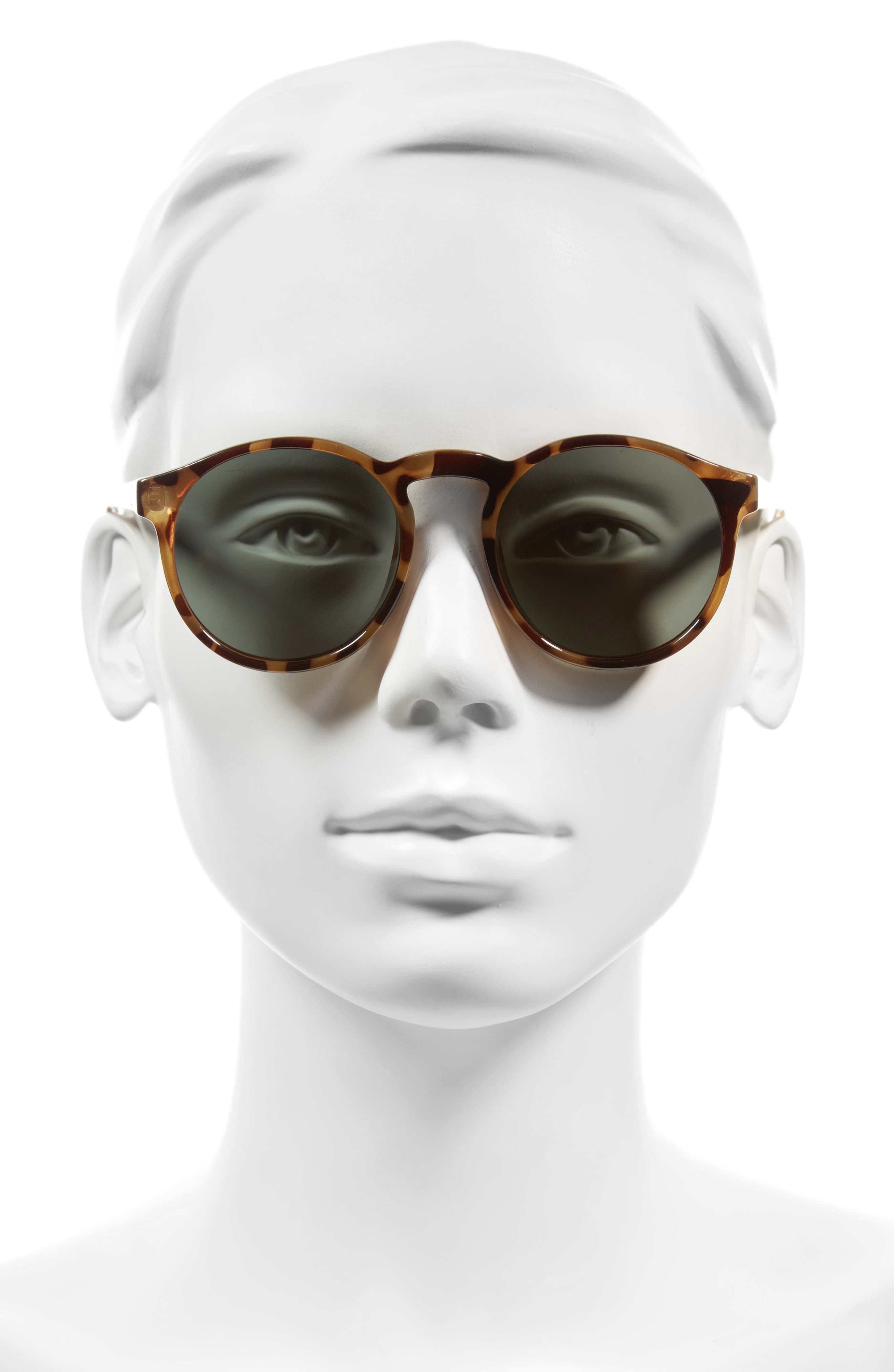 Cubanos 47mm Round Sunglasses,                             Alternate thumbnail 2, color,                             Milky Tortoise