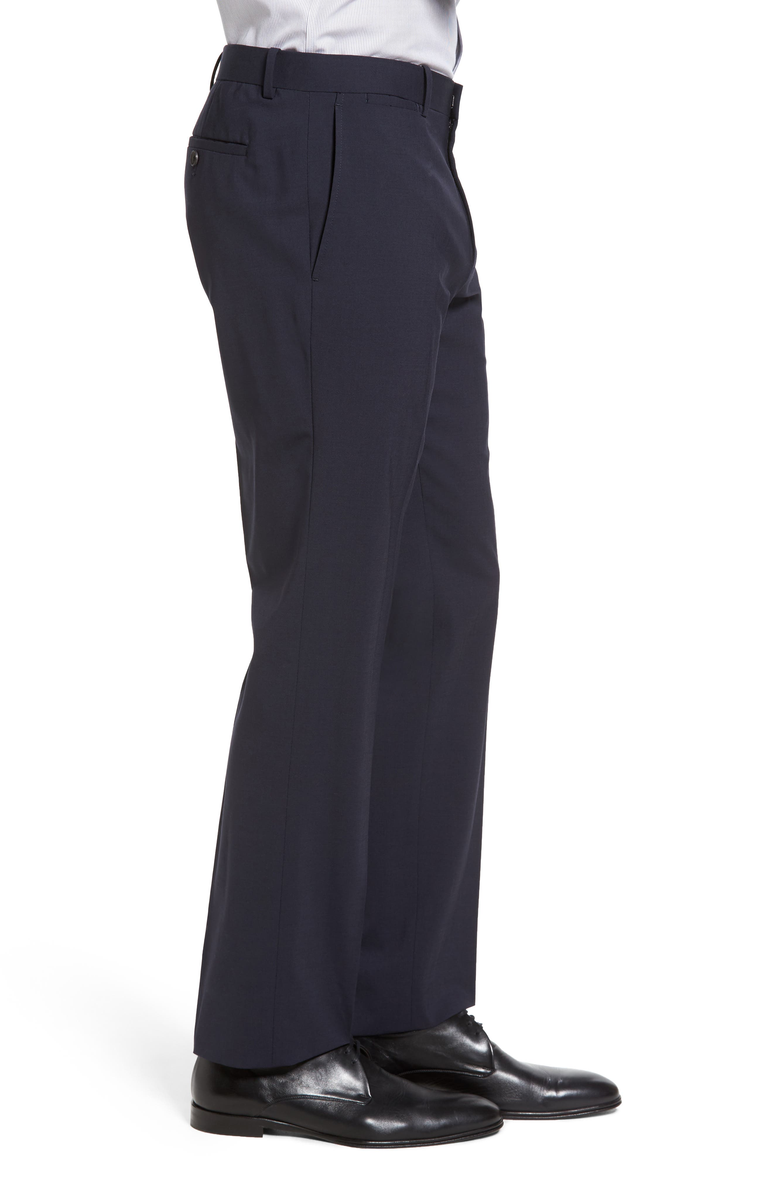 Alternate Image 3  - Theory Marlo New Tailor 2 Flat Front Solid Stretch Wool Trousers
