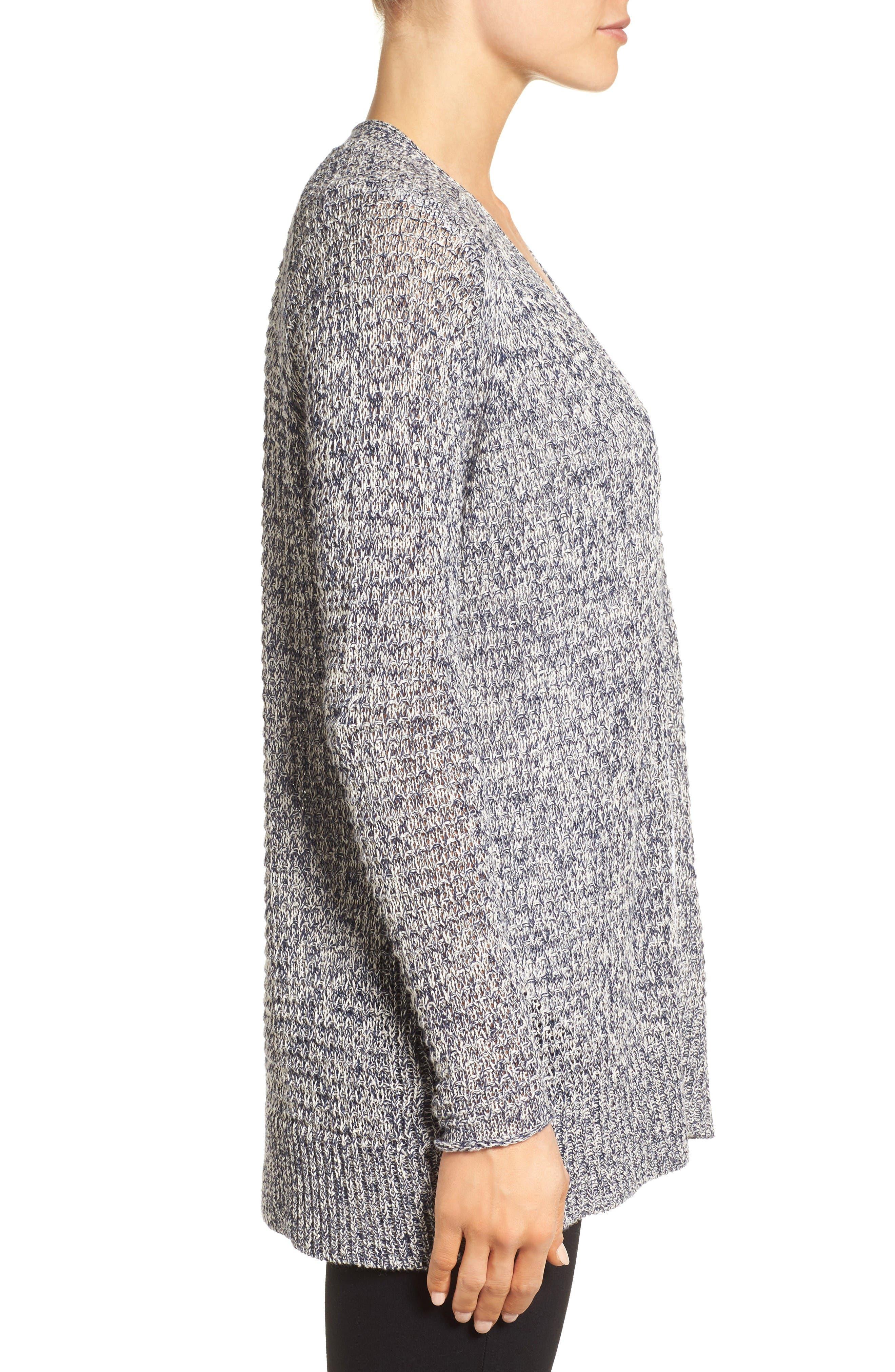 Alternate Image 3  - Caslon® Textured Cardigan (Regular & Petite)