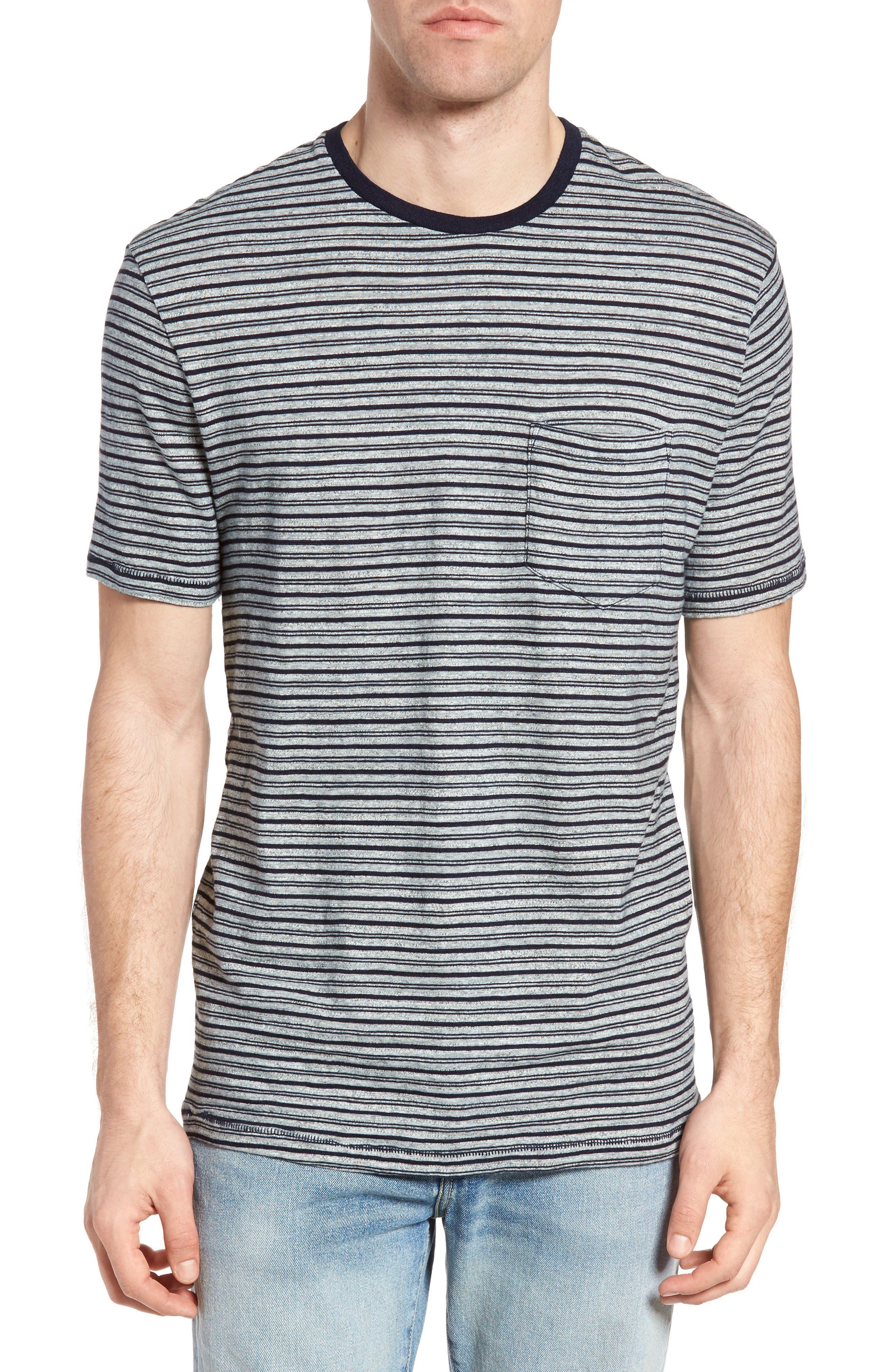 Stripe Ringer T-Shirt,                             Main thumbnail 1, color,                             Indigo