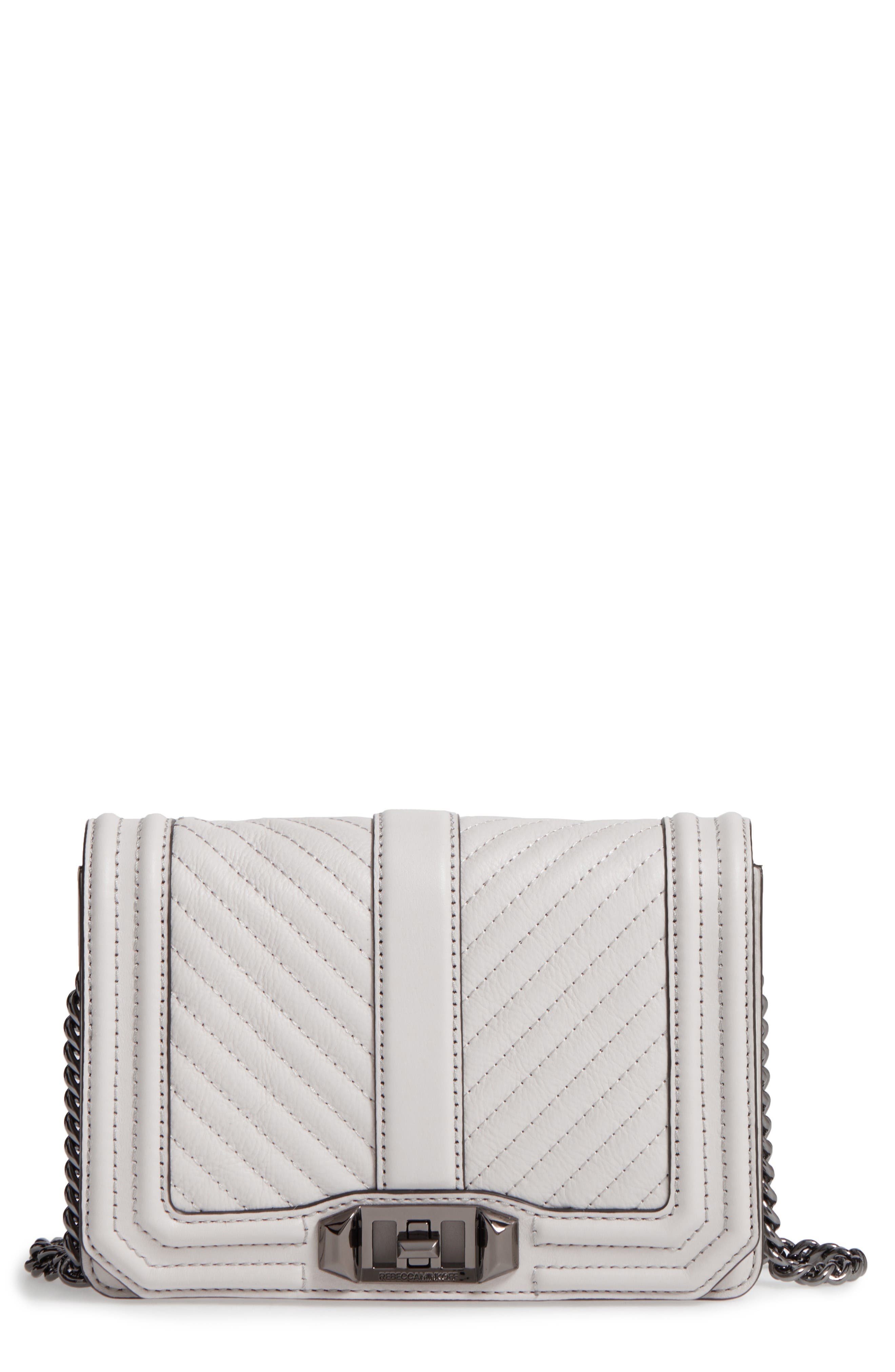 Alternate Image 1 Selected - Rebecca Minkoff Small Love Leather Crossbody Bag