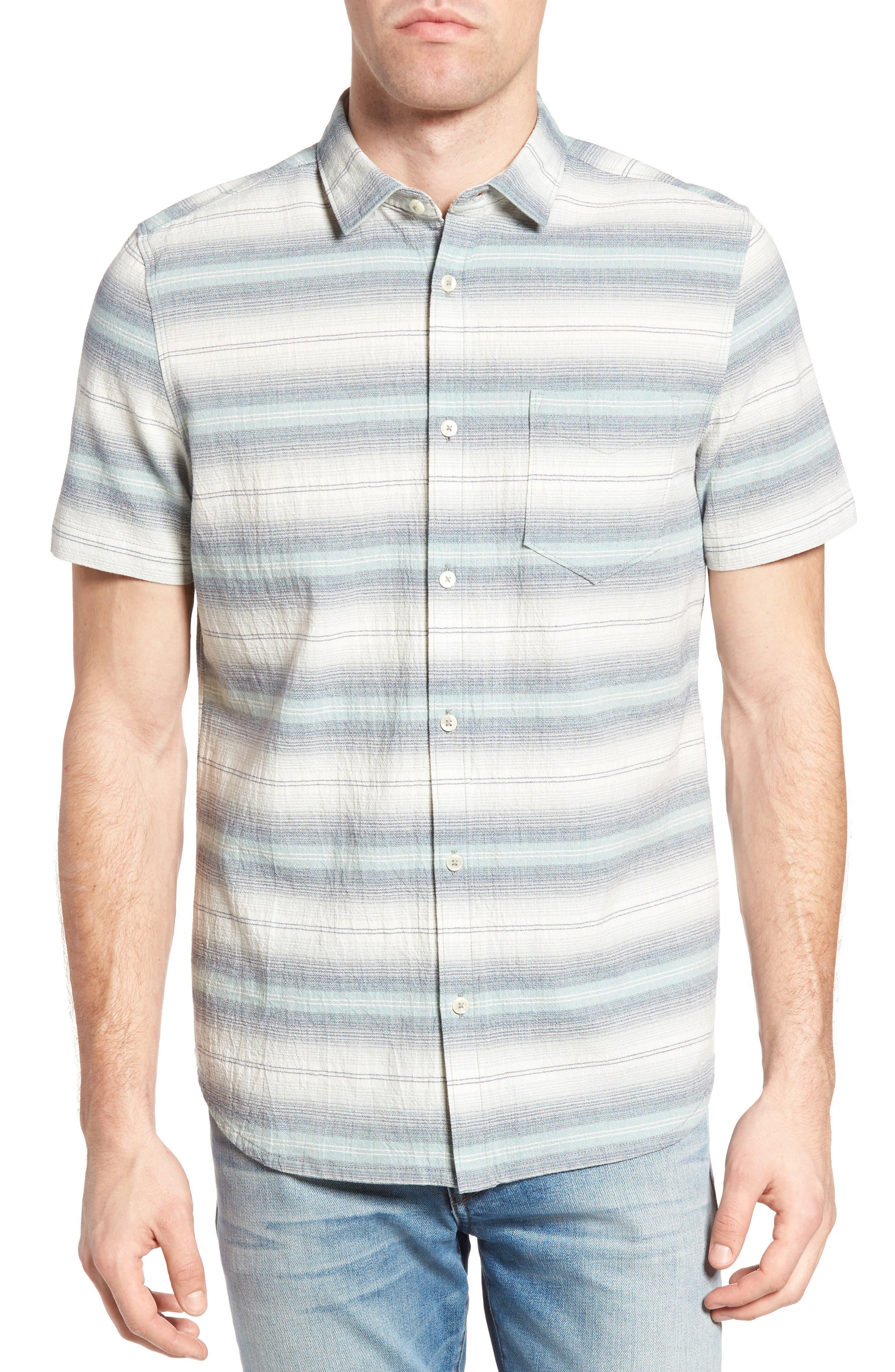 Gibson Regular Fit Textured Stripe Sport Shirt,                         Main,                         color, Griffin