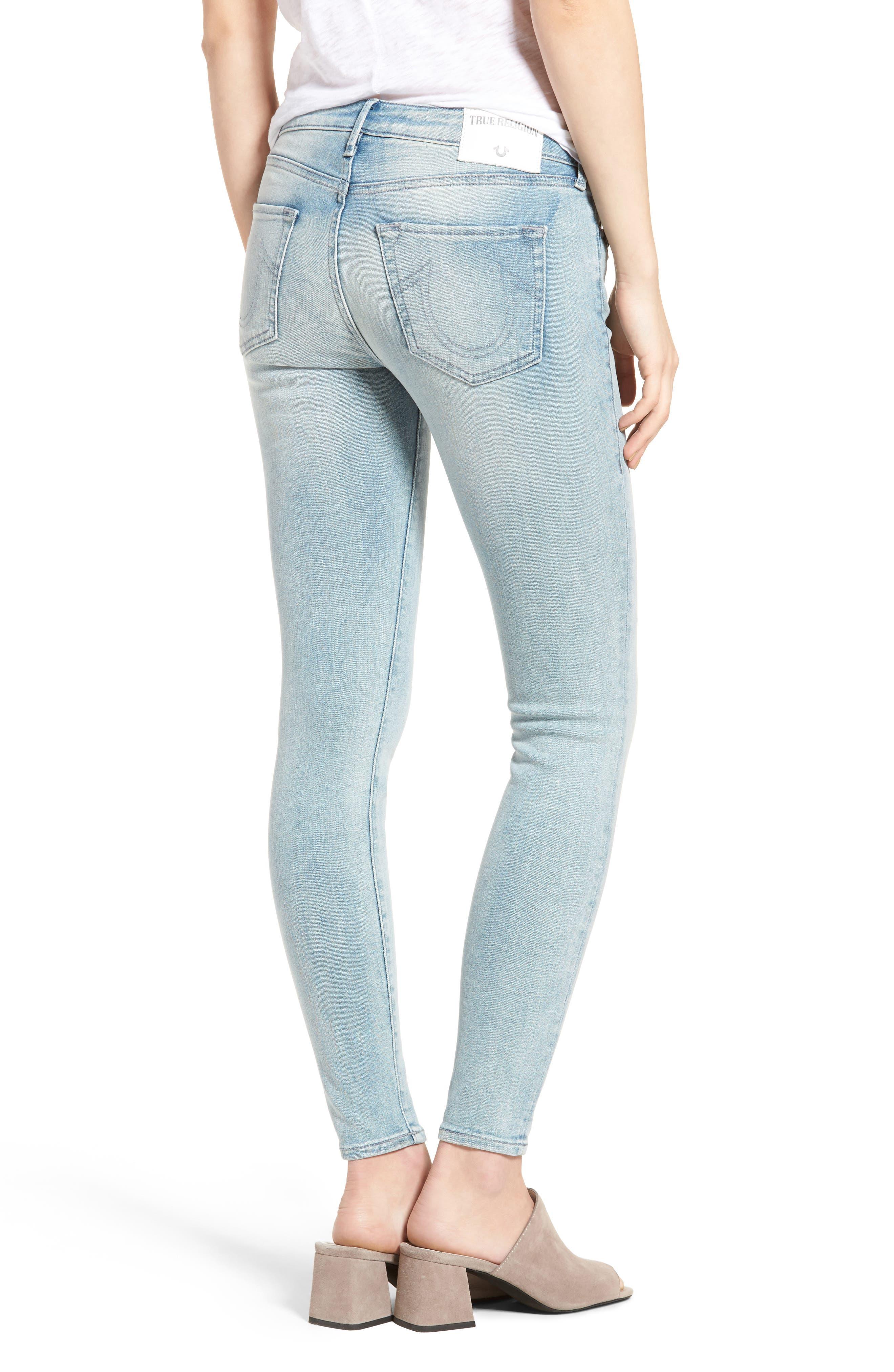 Halle Super Skinny Jeans,                             Alternate thumbnail 2, color,                             Cloud Nine