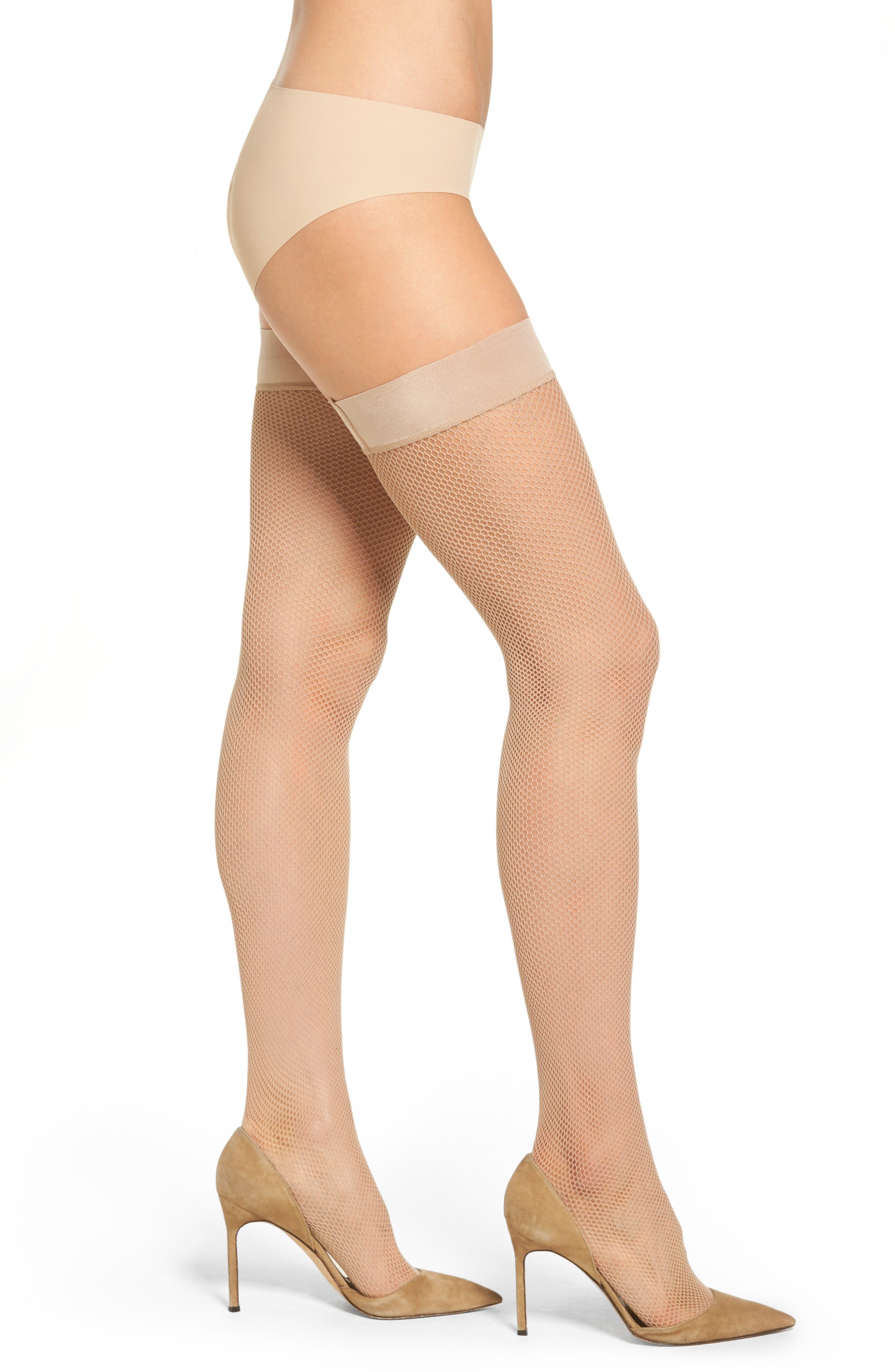 Main Image - DKNY Fishnet Stay-Up Stockings