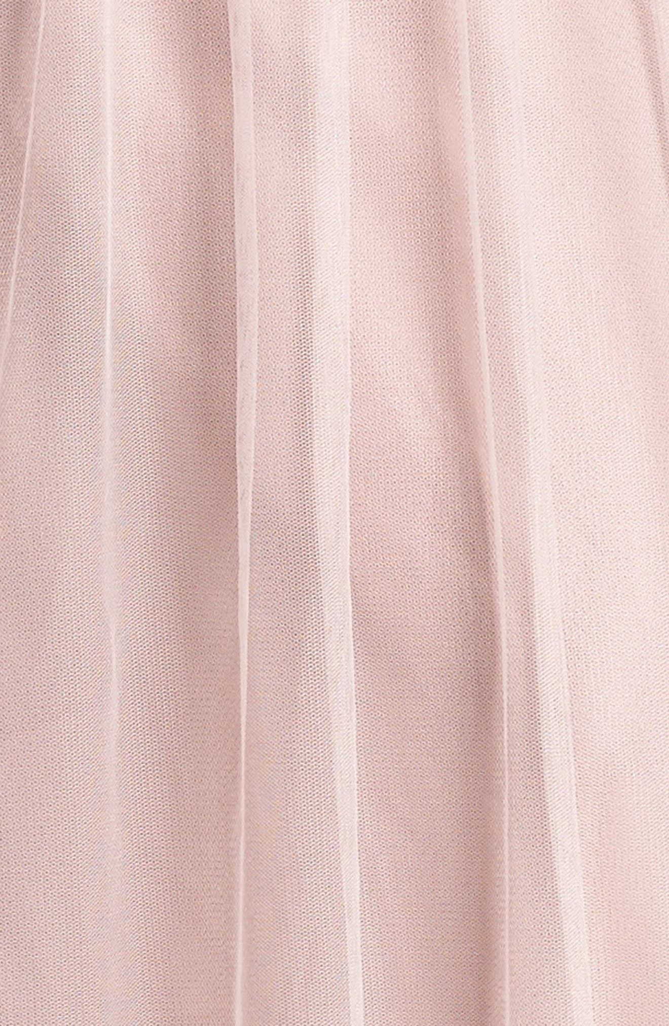 Illusion Gown,                             Alternate thumbnail 5, color,                             Dusty Rose