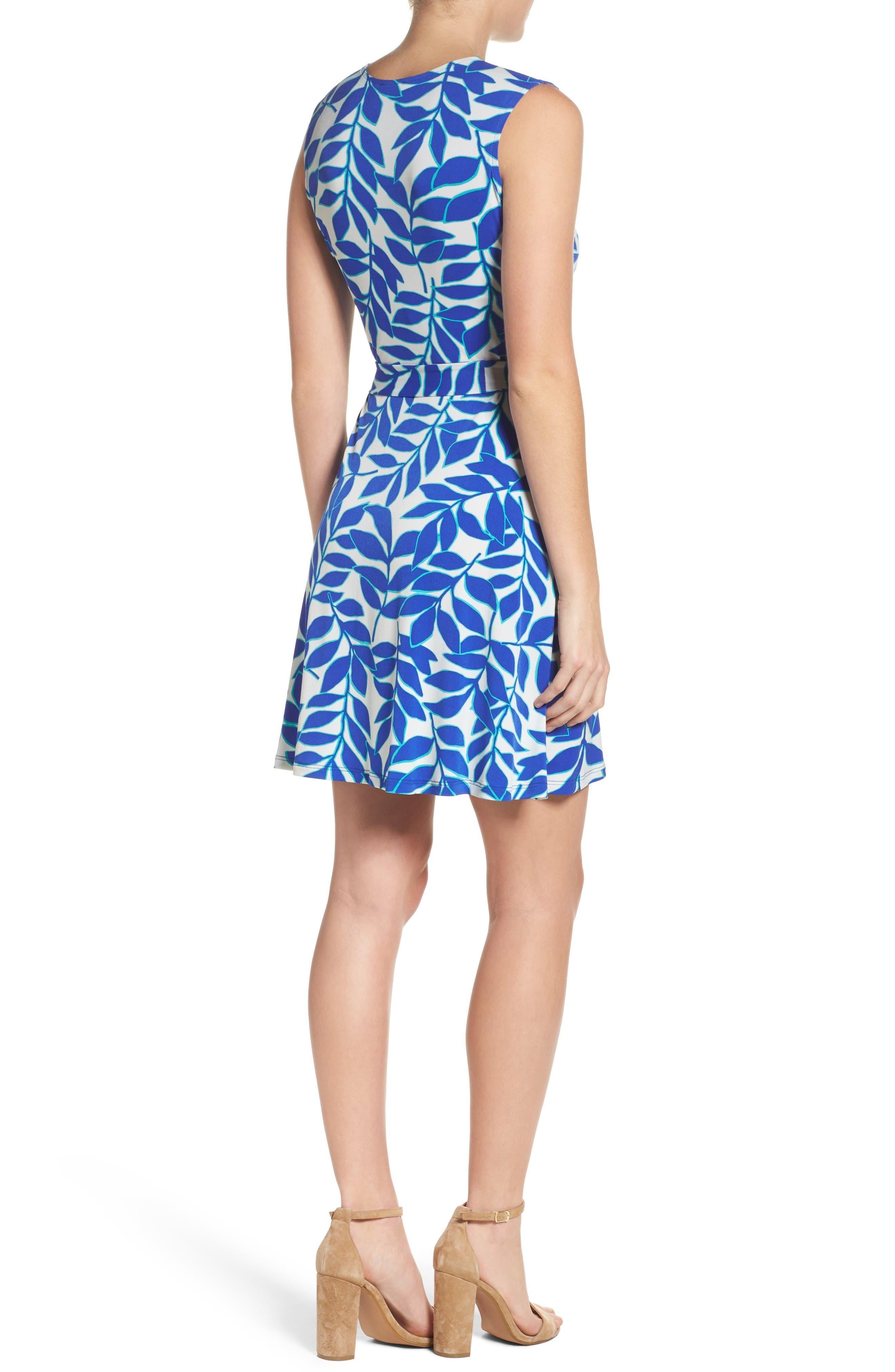Perfect Faux Wrap Dress,                             Alternate thumbnail 2, color,                             Blue Ivy
