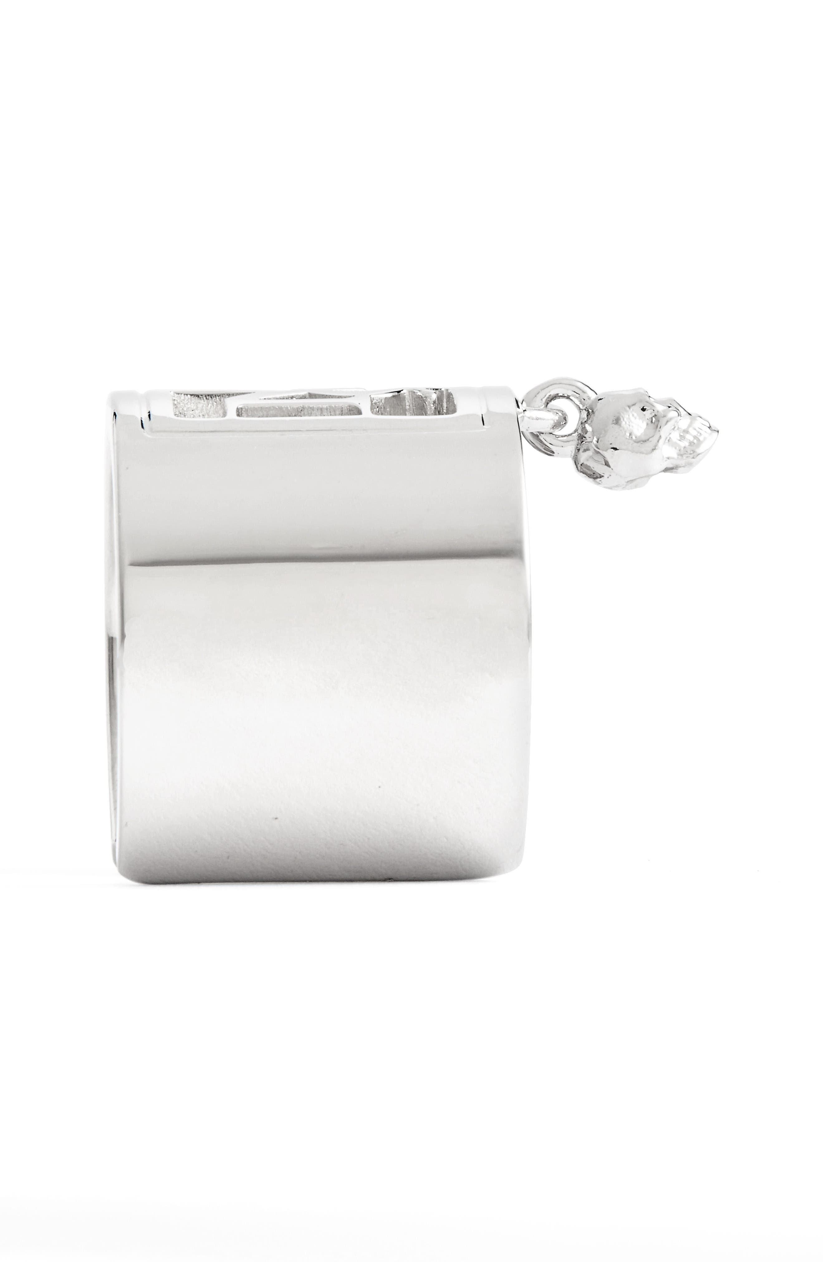Alternate Image 2  - Alexander McQueen Silver Monogram Ring