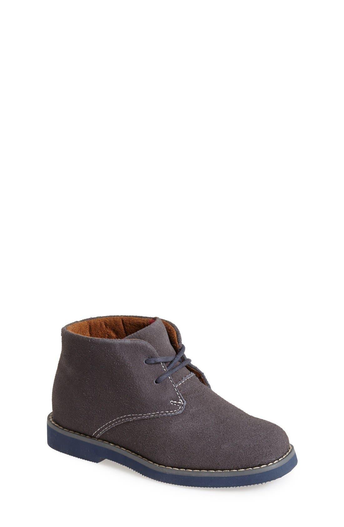 'Quinlan' Chukka Boot,                             Main thumbnail 1, color,                             Grey/ Navy Sole
