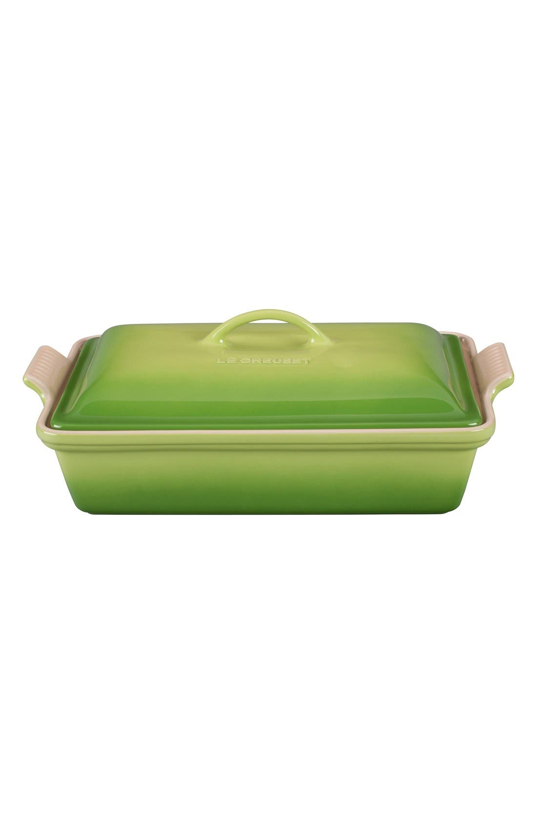 Alternate Image 1 Selected - Le Creuset 4 Quart Covered Rectangular Stoneware Casserole