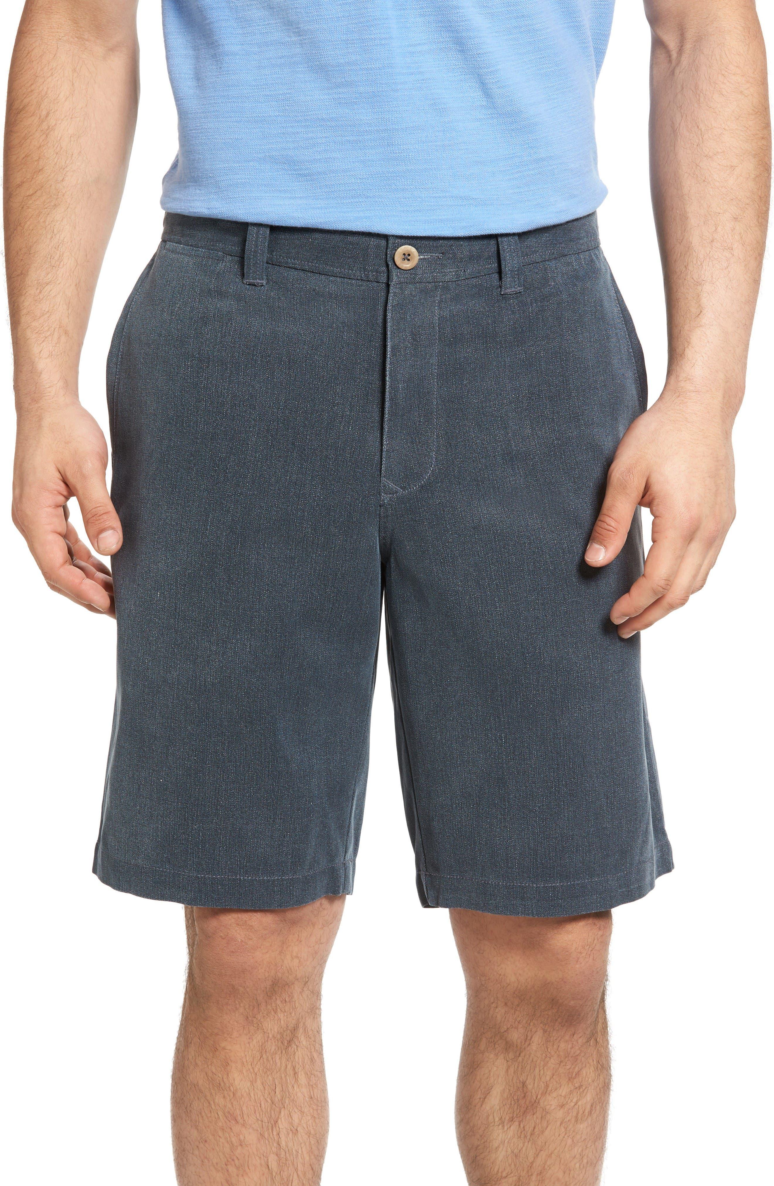 Main Image - Tommy Bahama Havana Herringbone Silk Blend Chino Shorts