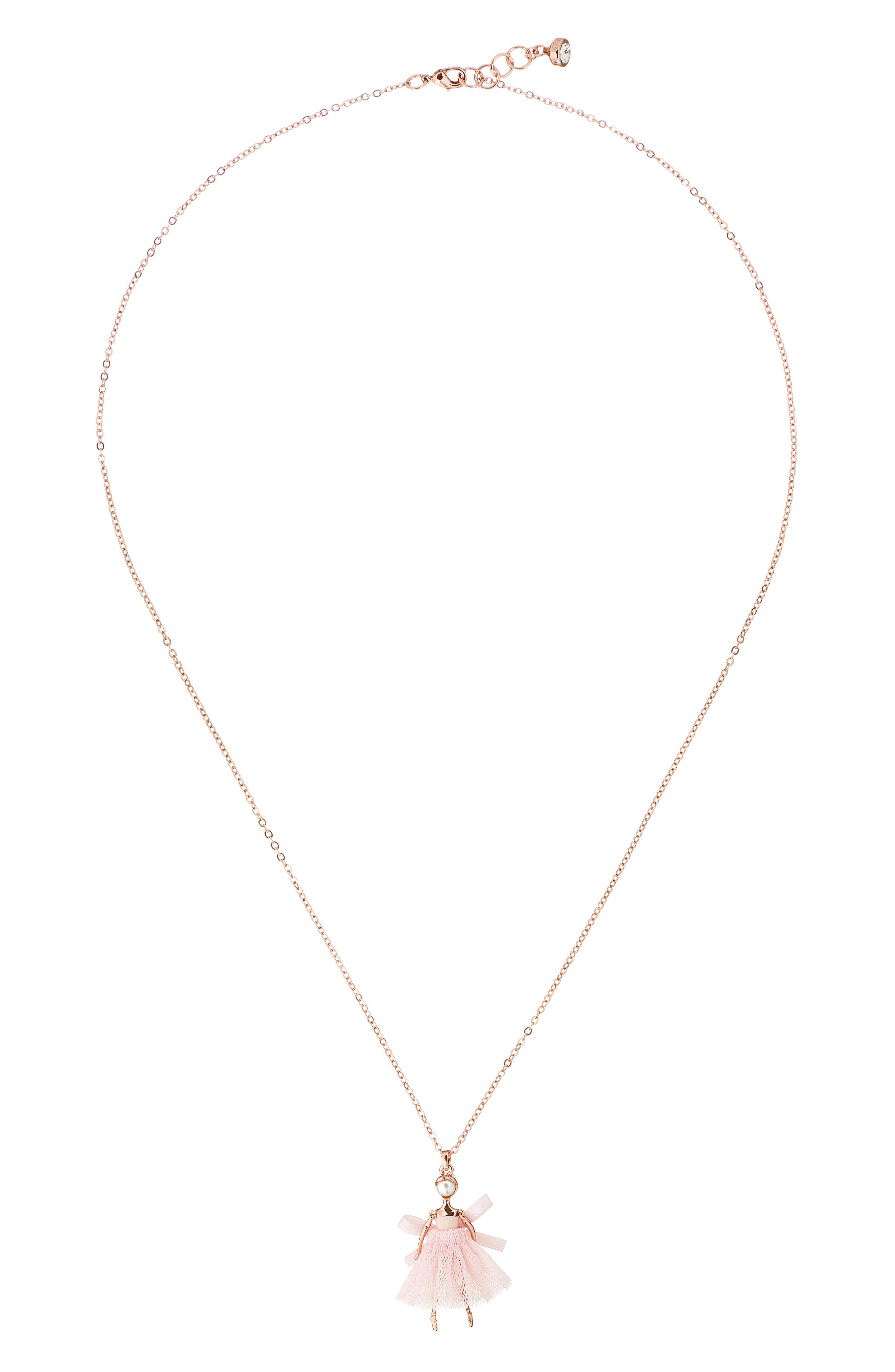 Main Image - Ted Baker London Carabel Ballerina Pendant Necklace