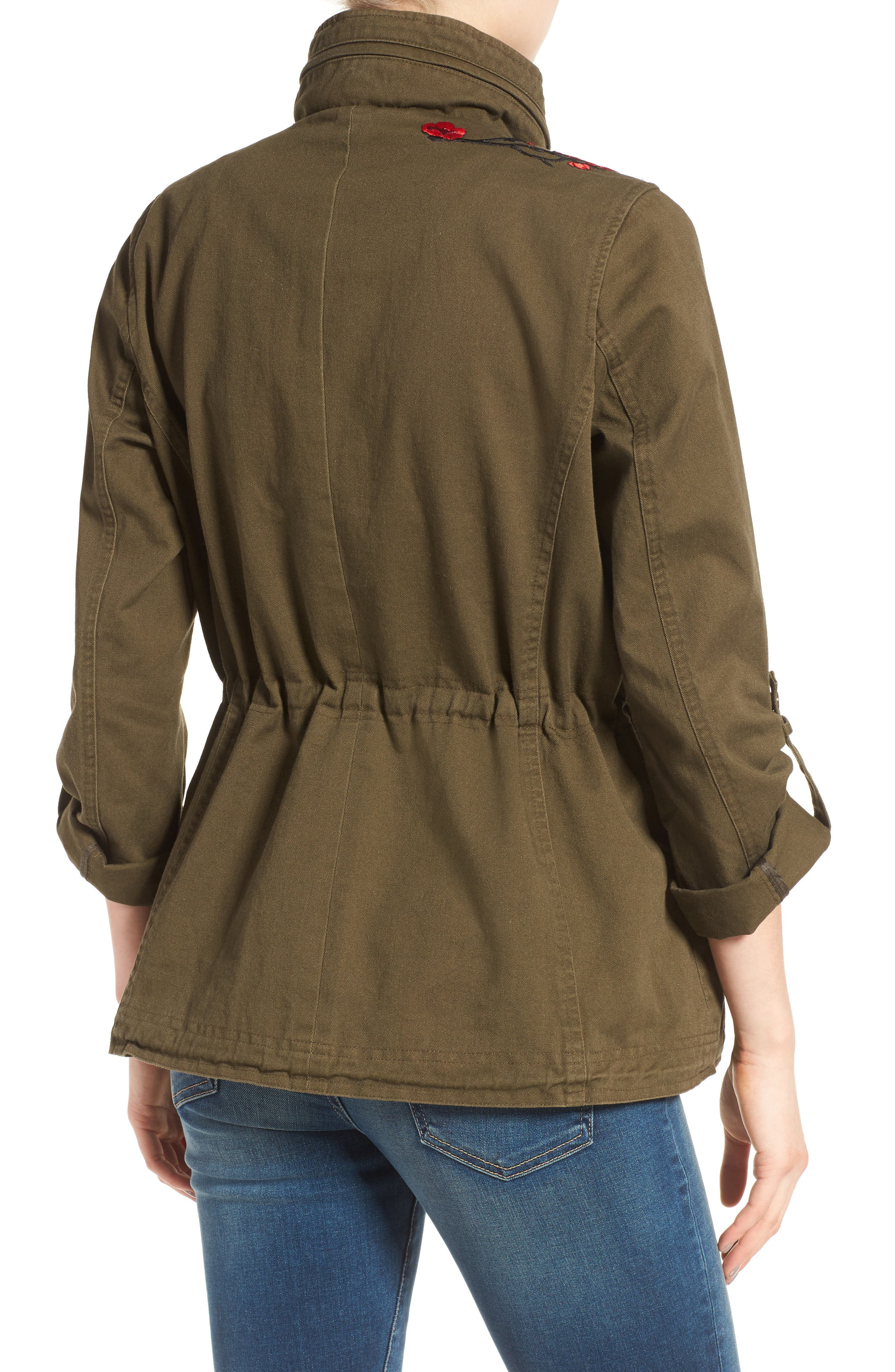 Alternate Image 2  - Vince Camuto Embroidered Cotton Twill Utility Jacket