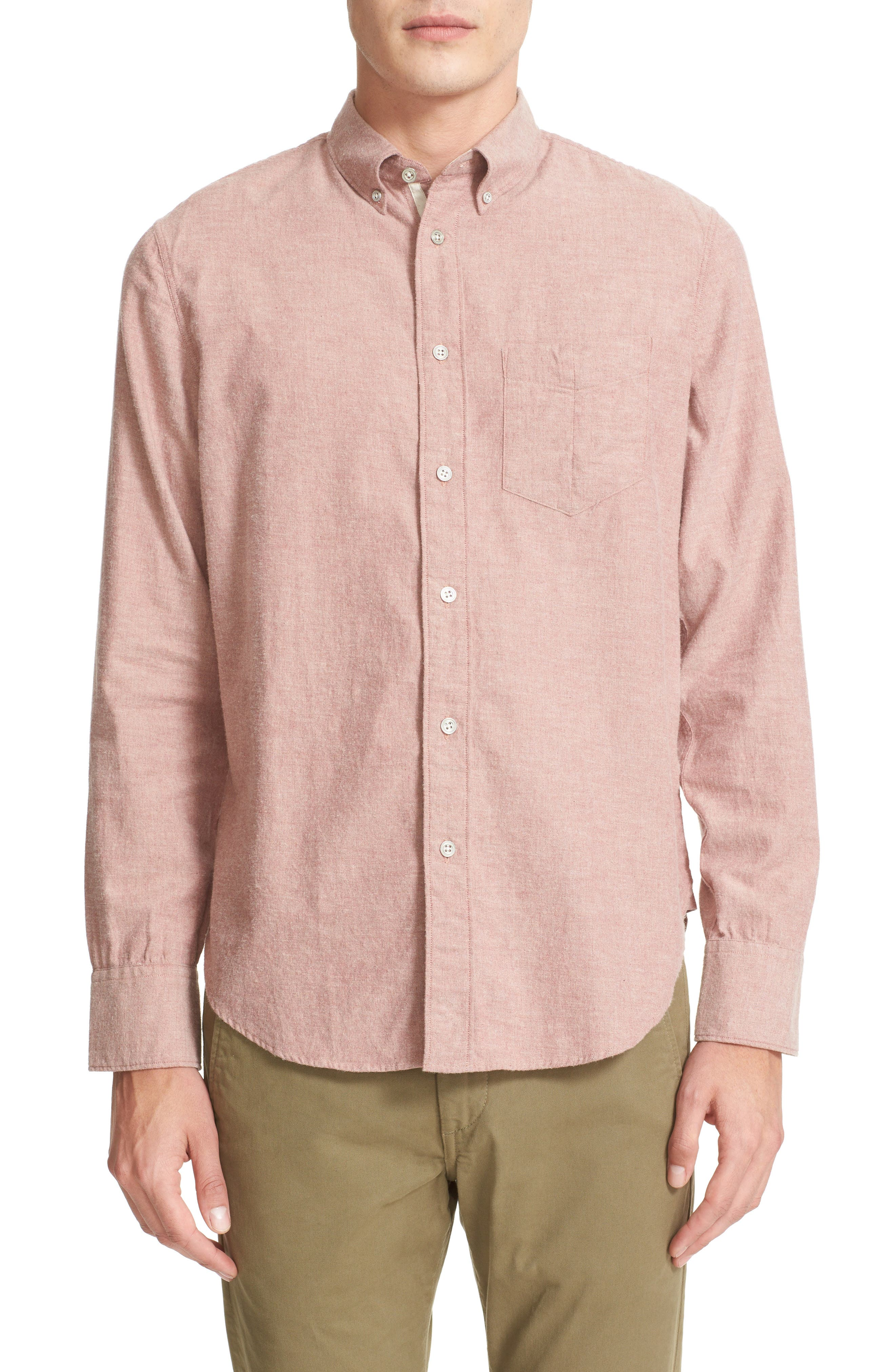 Standard Issue Trim Fit Sport Shirt,                             Main thumbnail 1, color,                             Pink