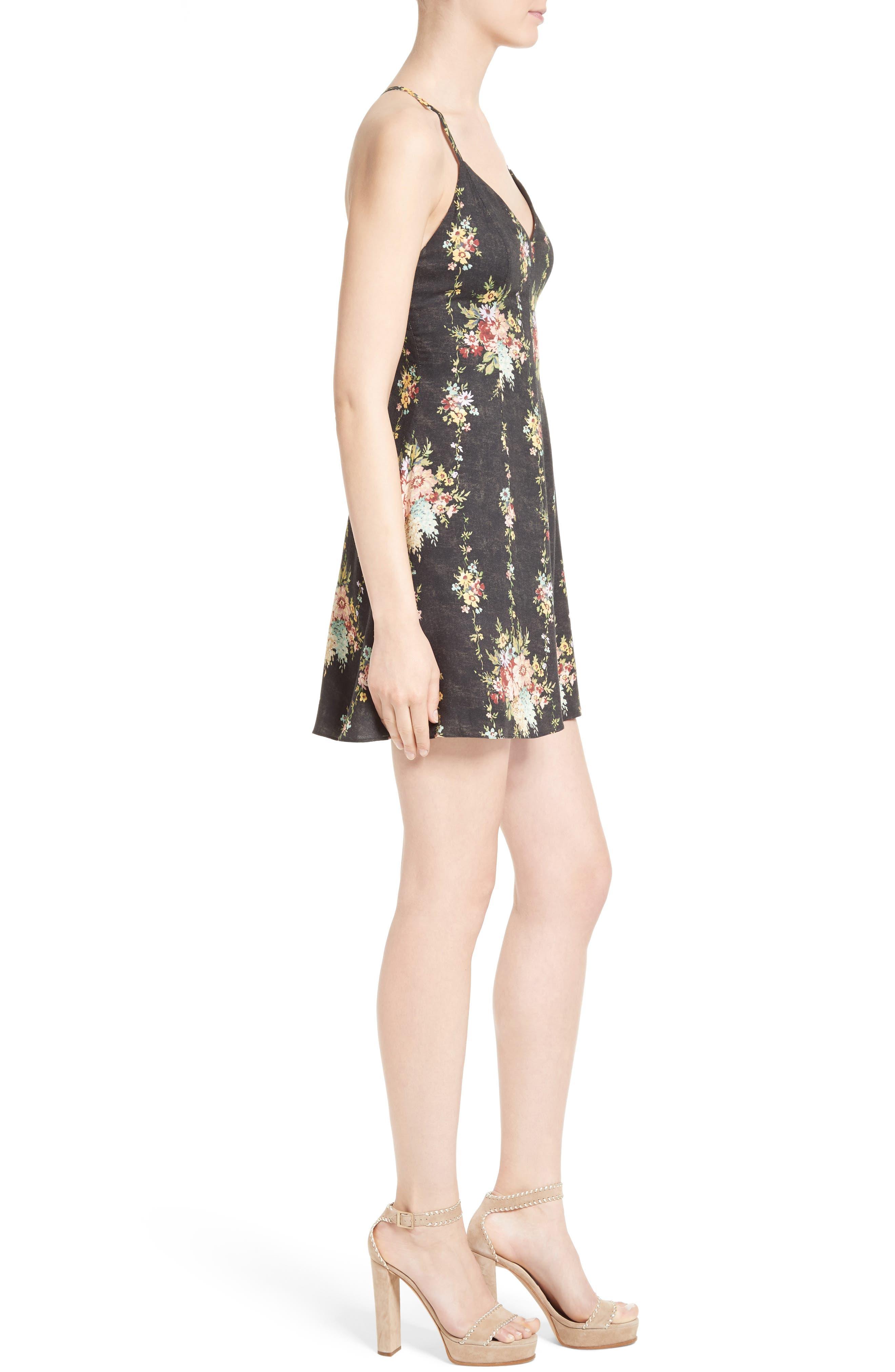 Alternate Image 3  - Alice + Olivia Alves Floral Fit & Flare Dress