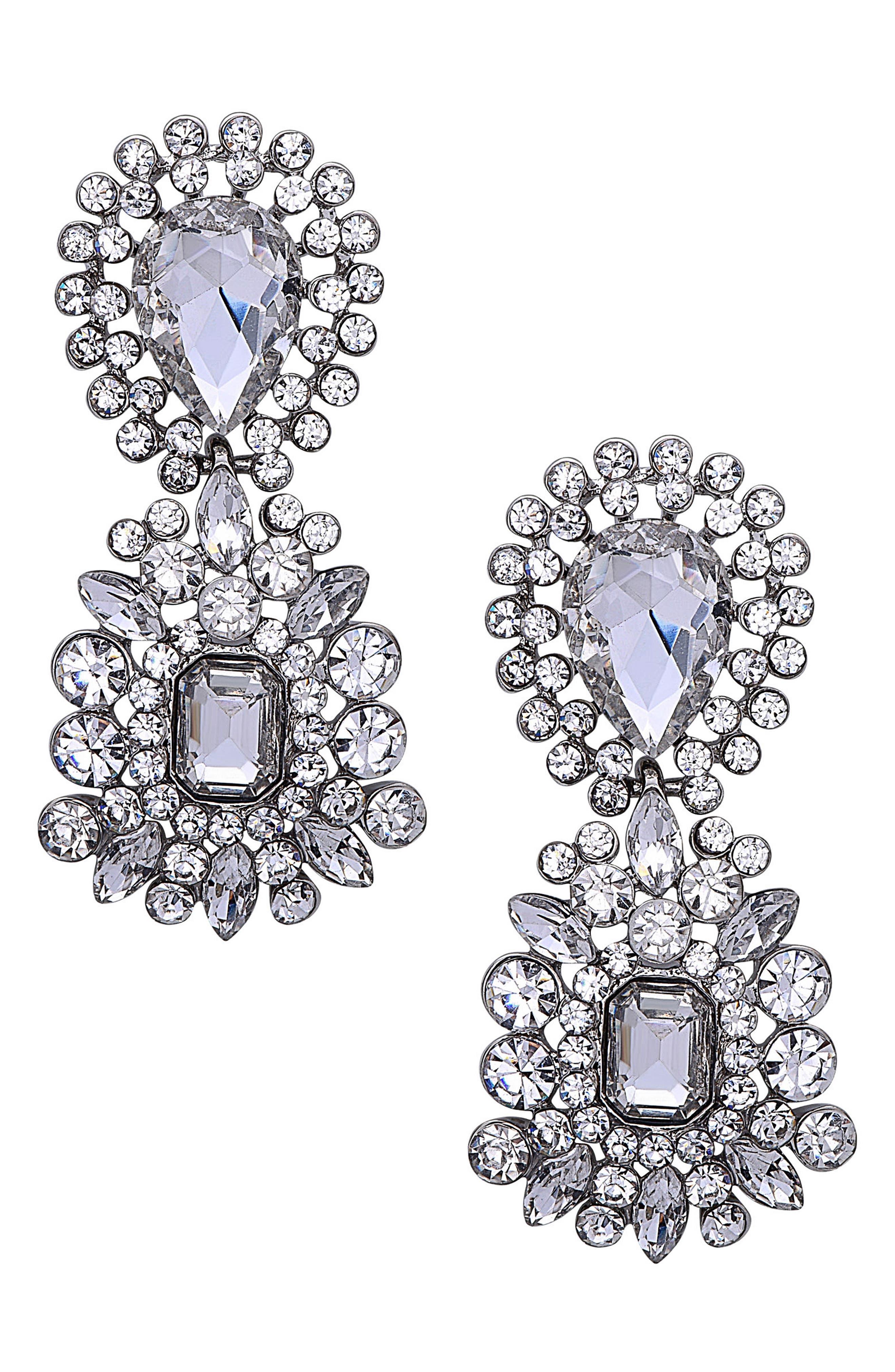 Main Image - Nina Crystal Cluster Drop Earrings