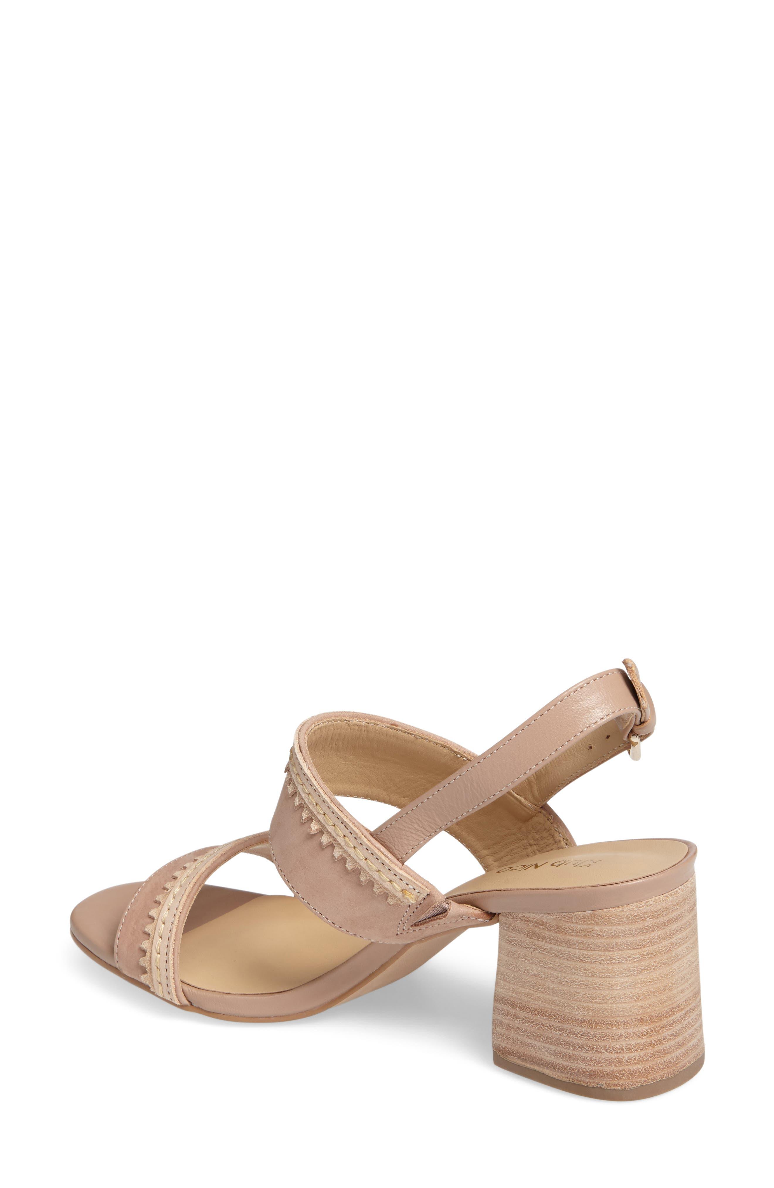 Rycca Block Heel Sandal,                             Alternate thumbnail 2, color,                             Blush Leather