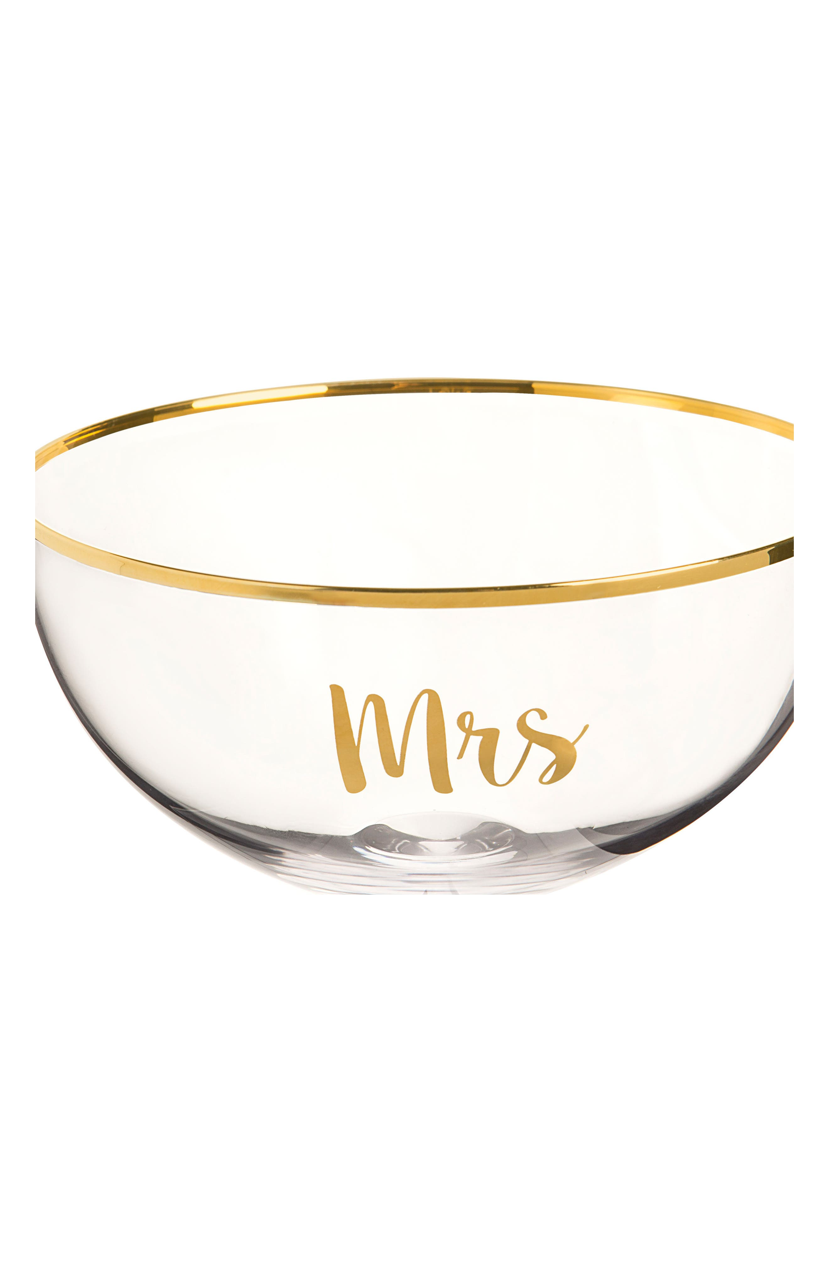 Mr. & Mrs. Set of 2 Champagne Coupe Toasting Glasses,                             Alternate thumbnail 3, color,                             Gold