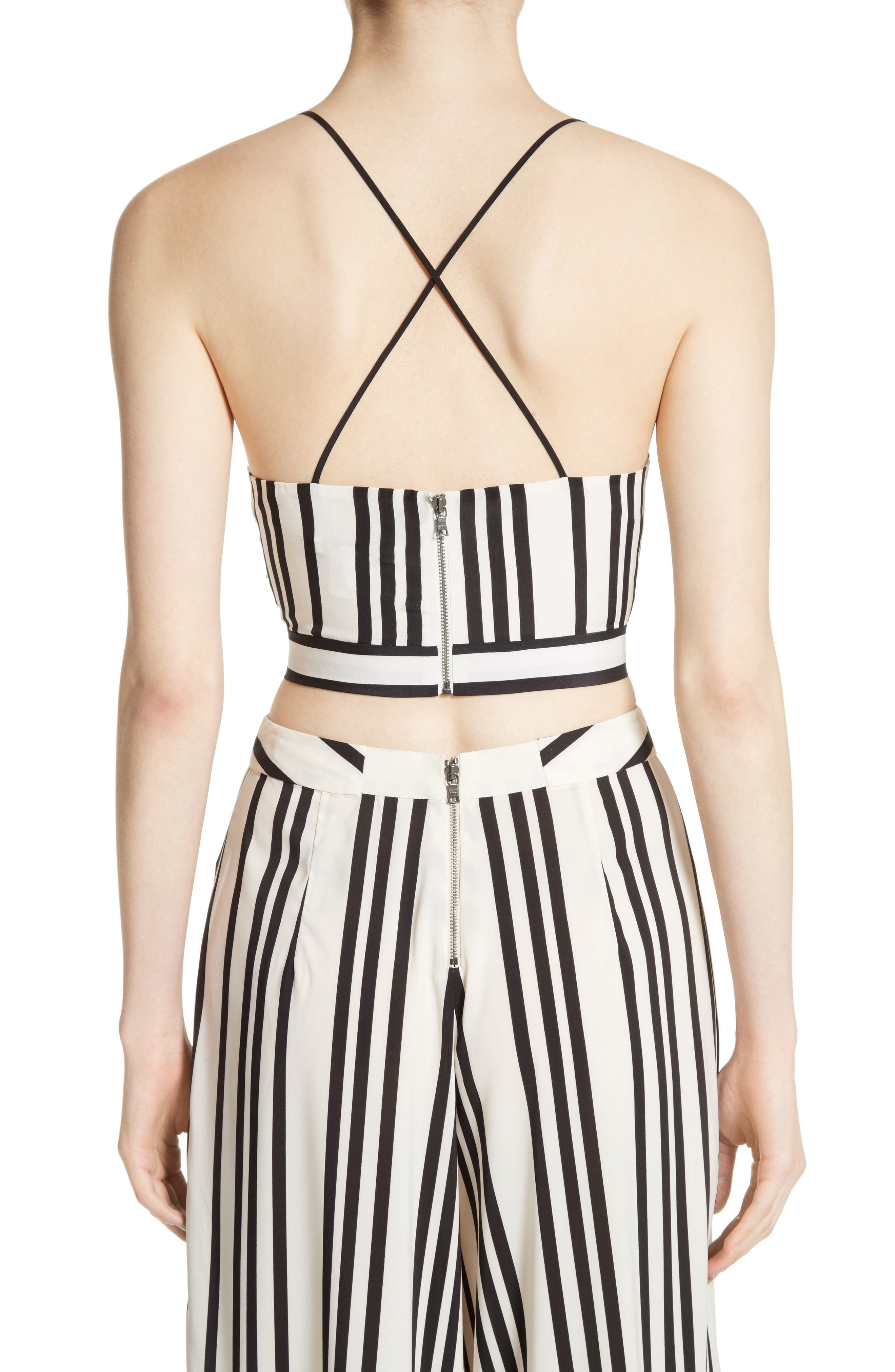 Alternate Image 3  - Alice + Olivia Rayna Tie Front Crossover Crop Tank