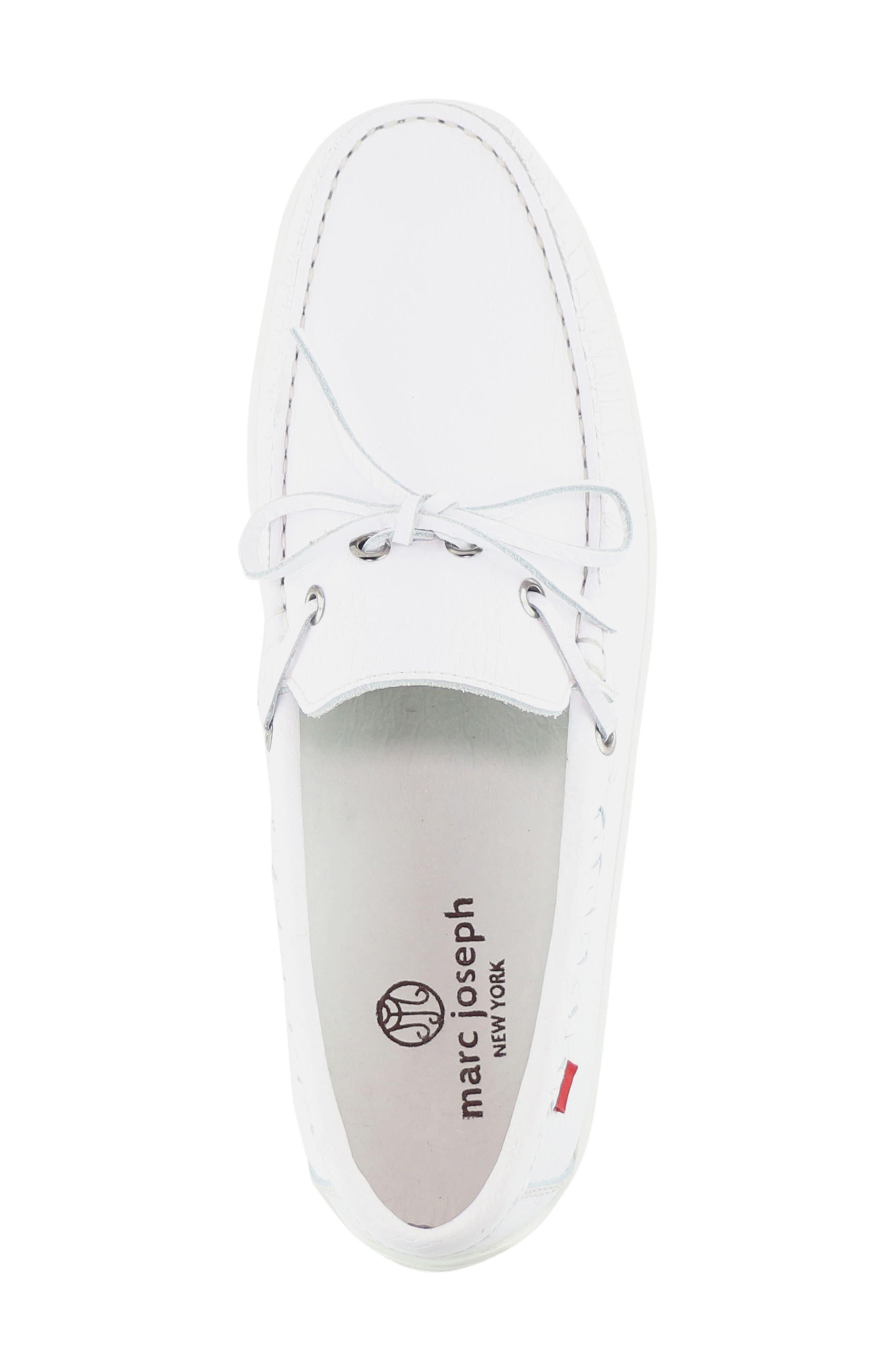 Hudson Boat Shoe,                             Alternate thumbnail 3, color,                             White