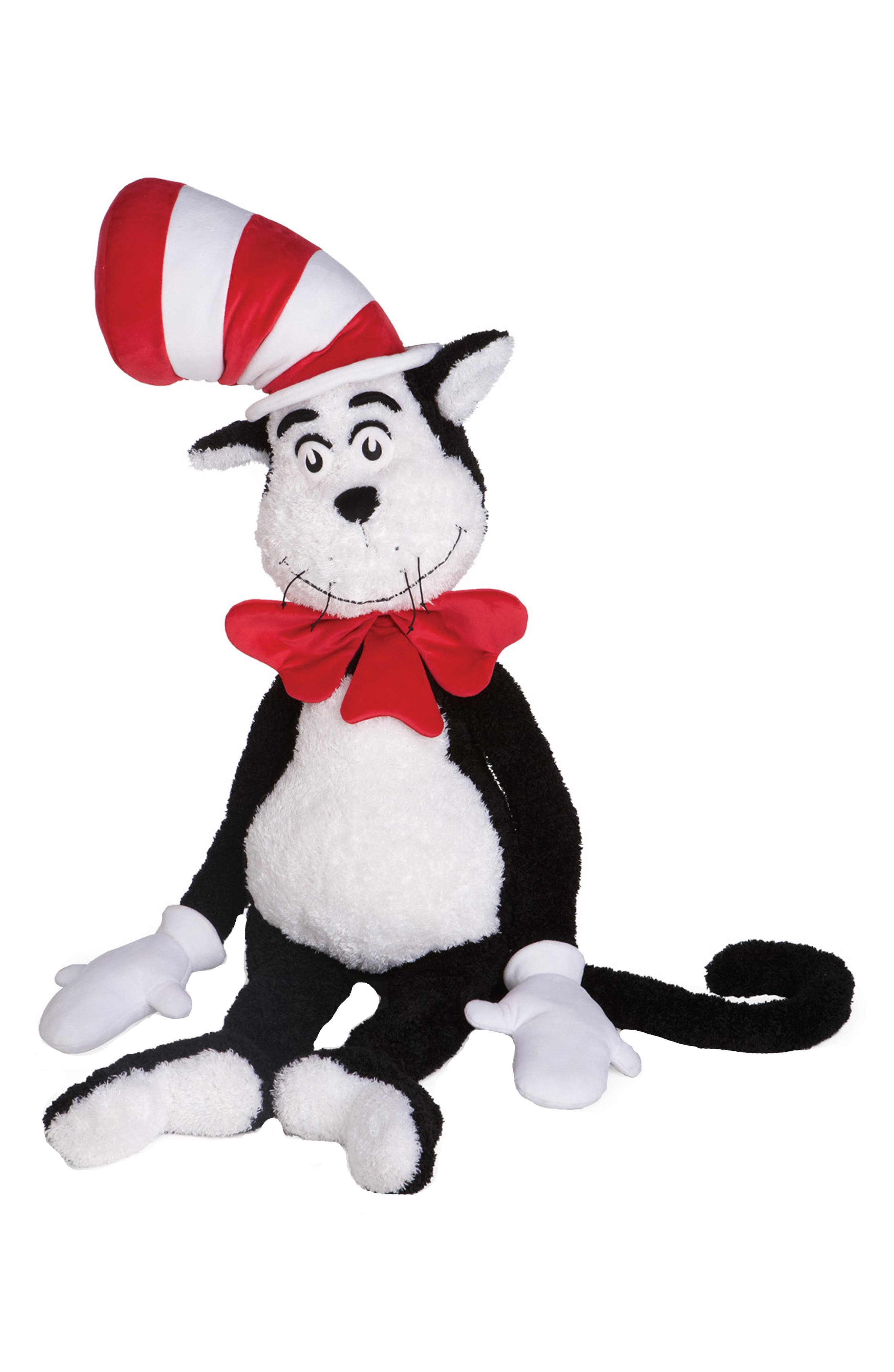 Dr. Seuss The Cat In The Hat Jumbo Stuffed Animal,                         Main,                         color, Black