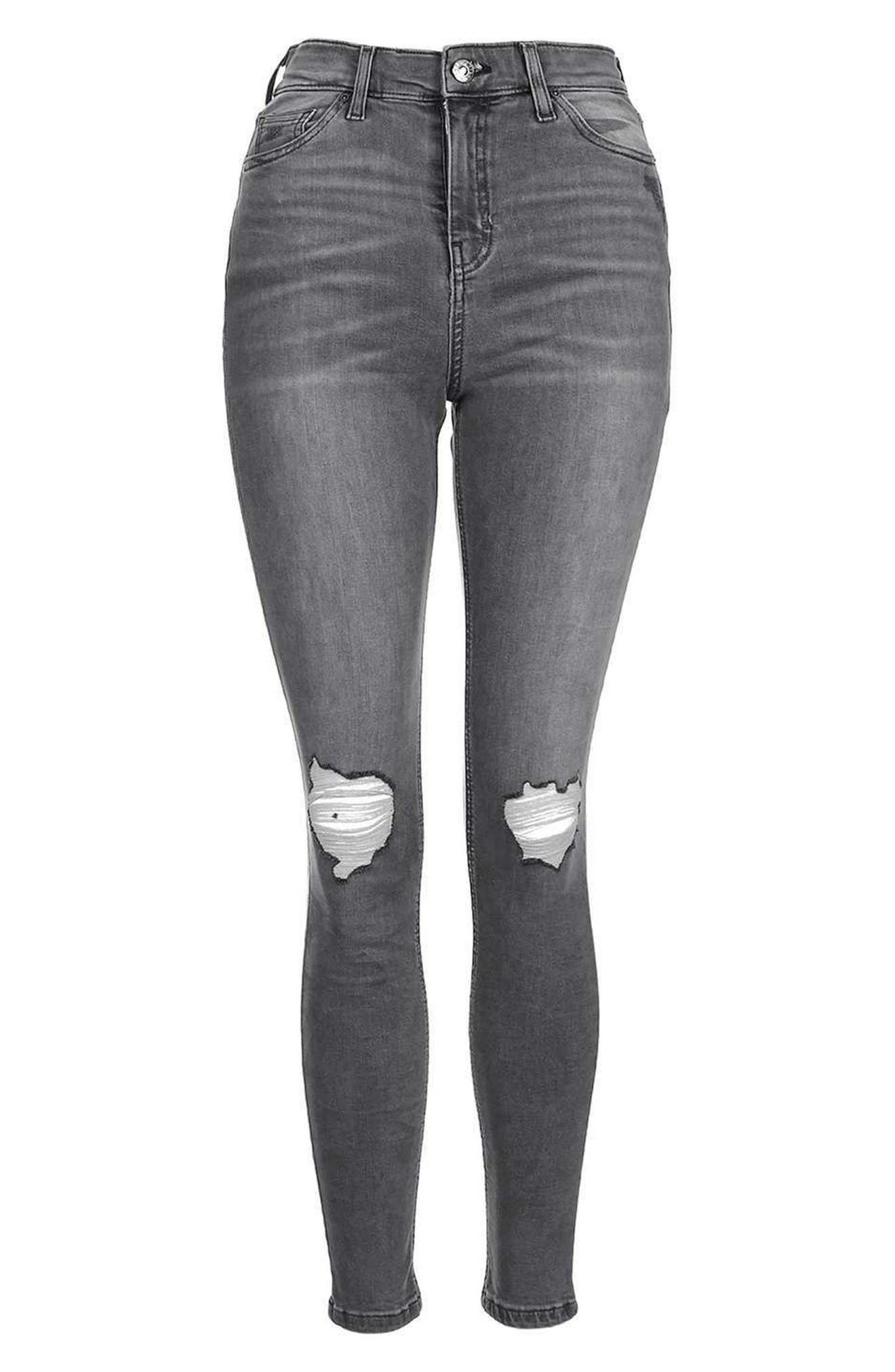 Alternate Image 5  - Topshop 'Jamie' Ripped Ankle Skinny Jeans (Regular & Tall)