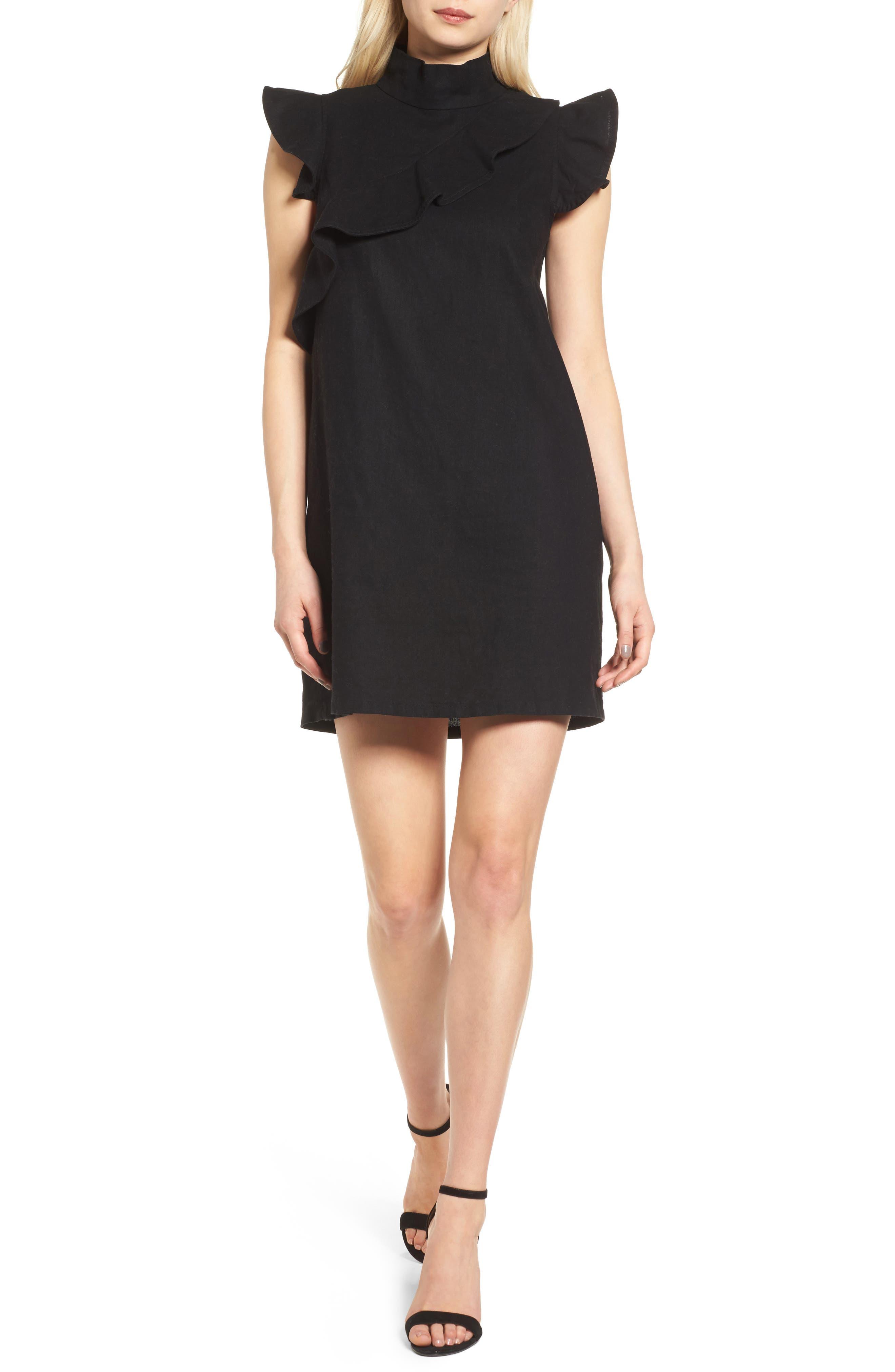 MCGUIRE Sorbonne Linen Blend Shift Dress