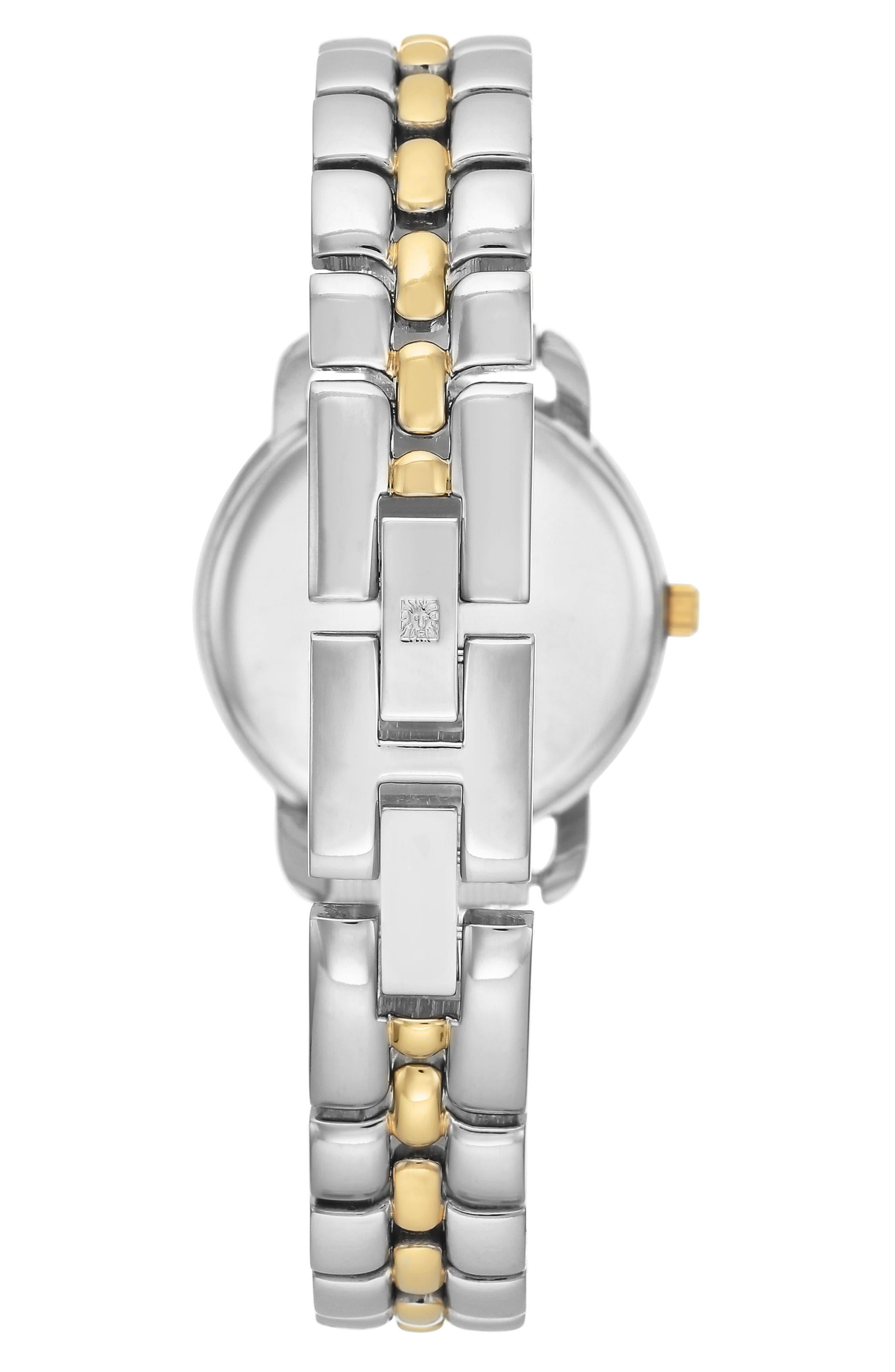 Alternate Image 2  - Anne Klein Diamond Bracelet Watch, 30mm