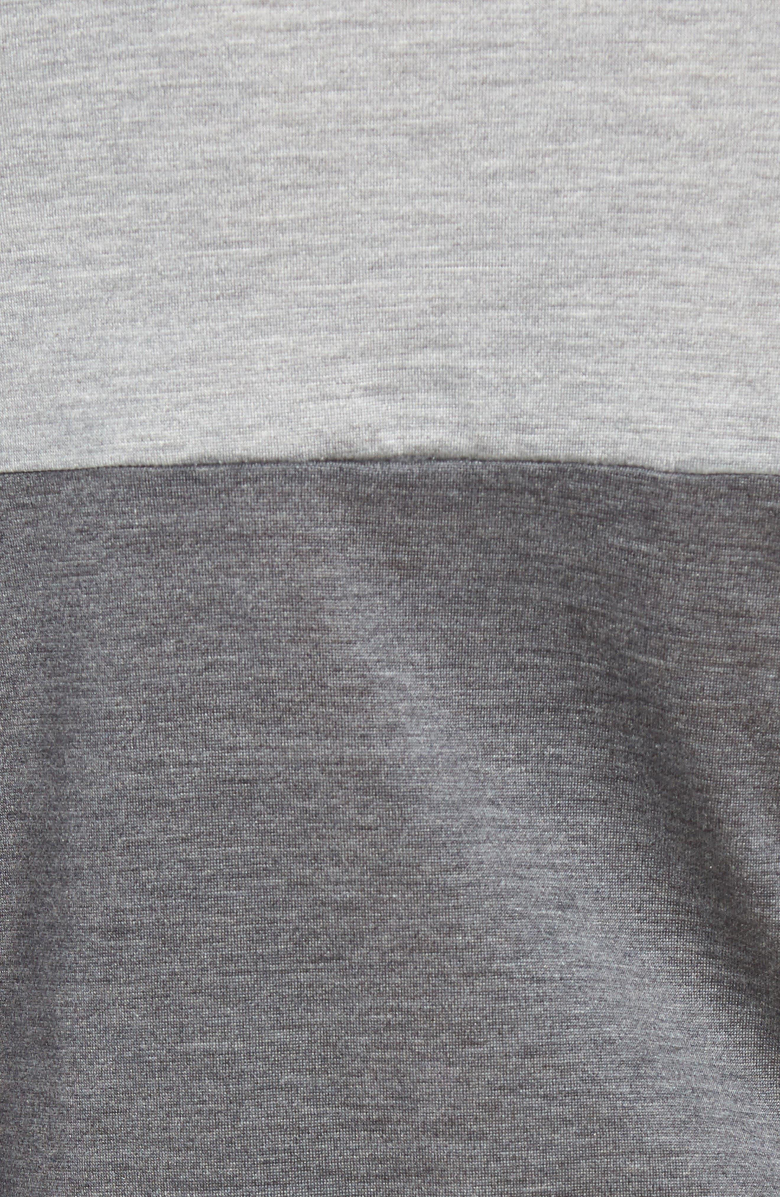Colorblock Silk & Cotton T-Shirt,                             Alternate thumbnail 5, color,                             Light Grey/ Dark Grey