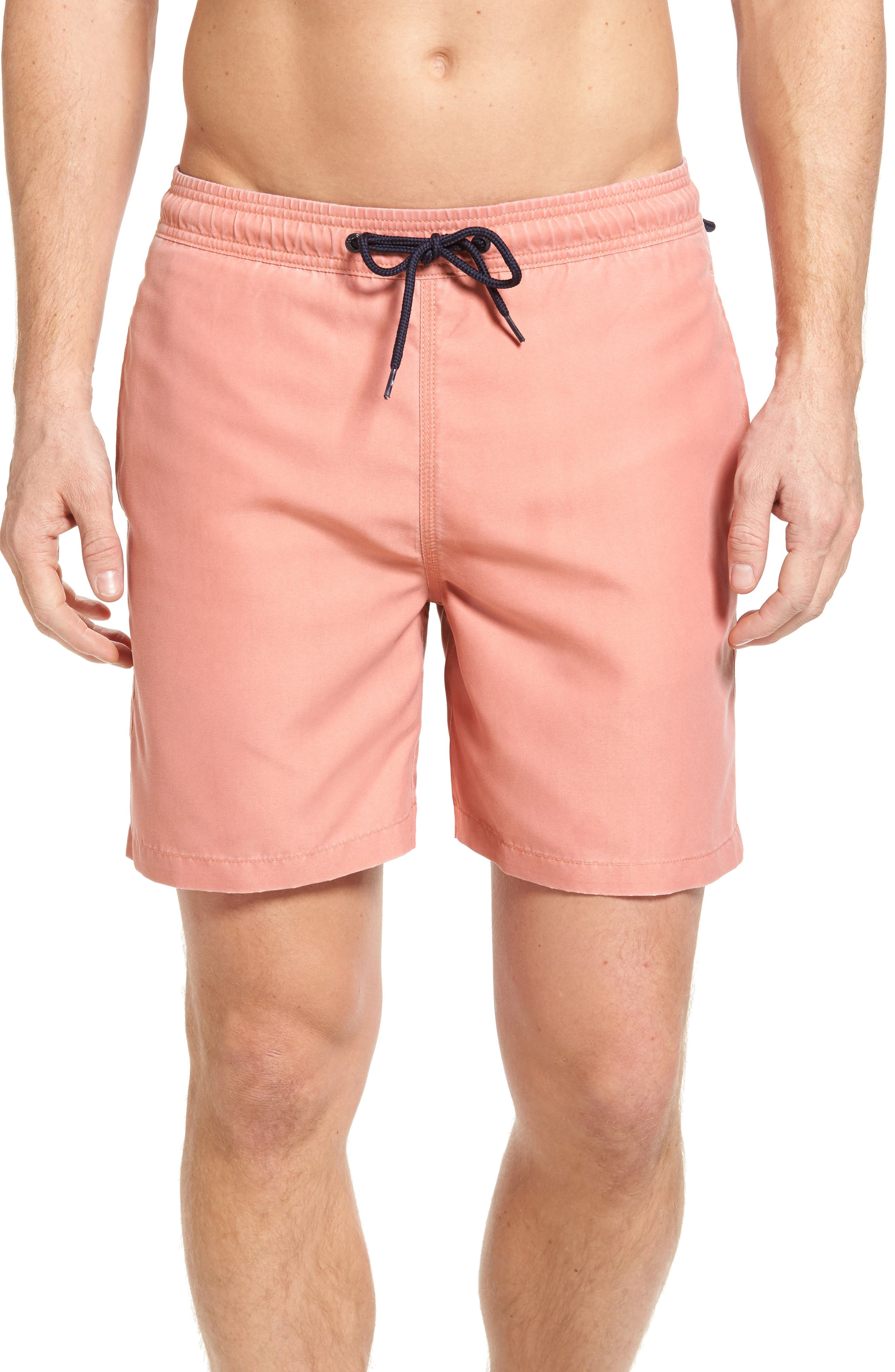 Volley Swim Trunks,                         Main,                         color, Red