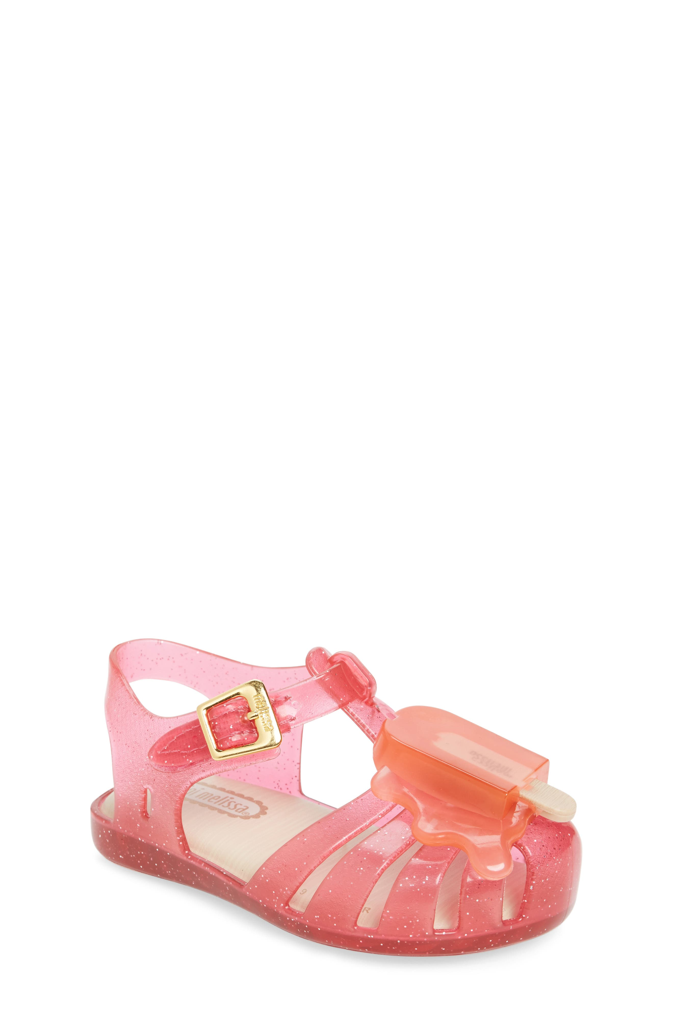 Main Image - Mini Melissa 'Aranha' Mary Jane Sandal (Walker & Toddler)