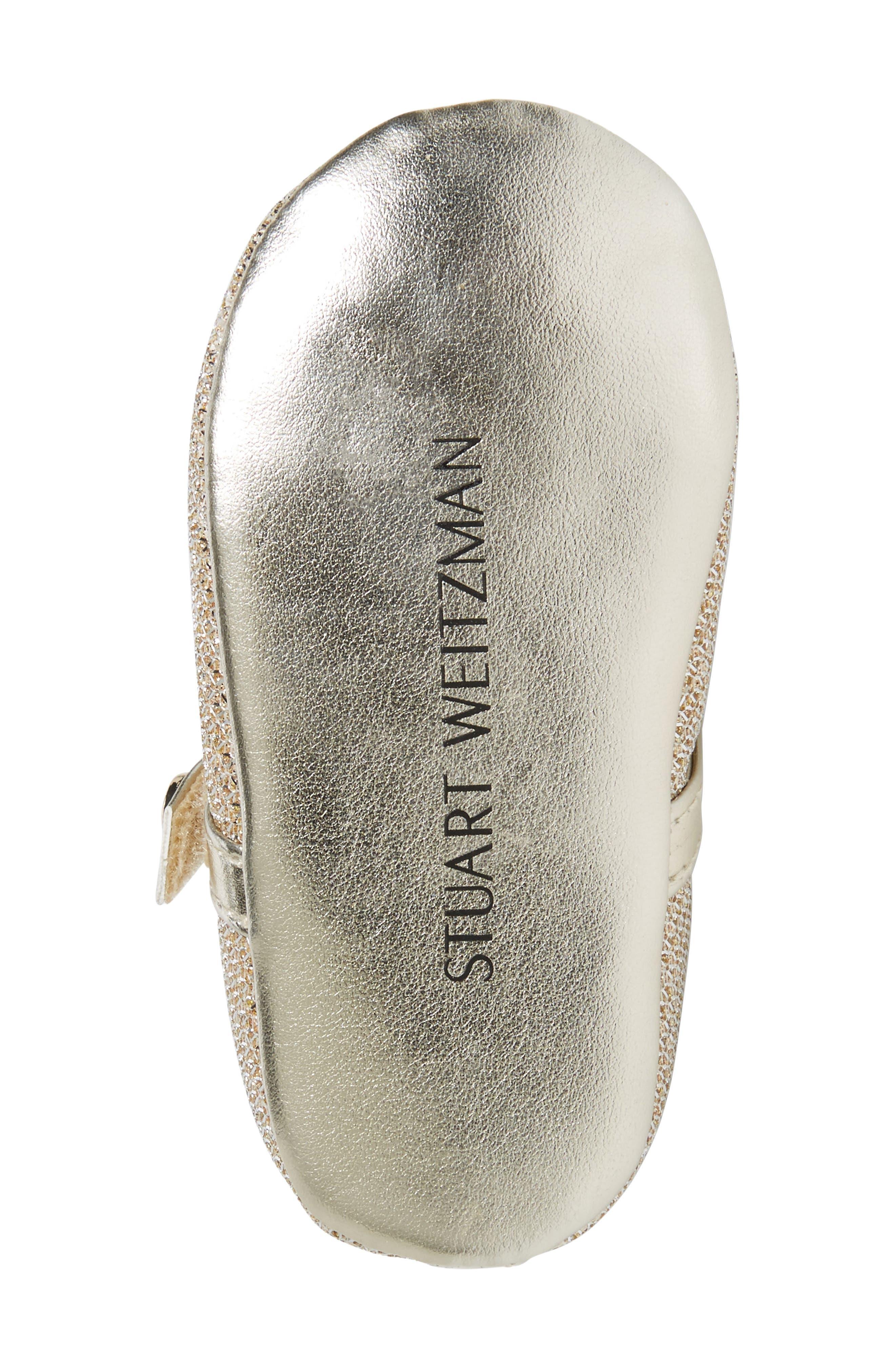 Alternate Image 4  - Stuart Weitzman Baby Dancer Crib Shoe (Baby)