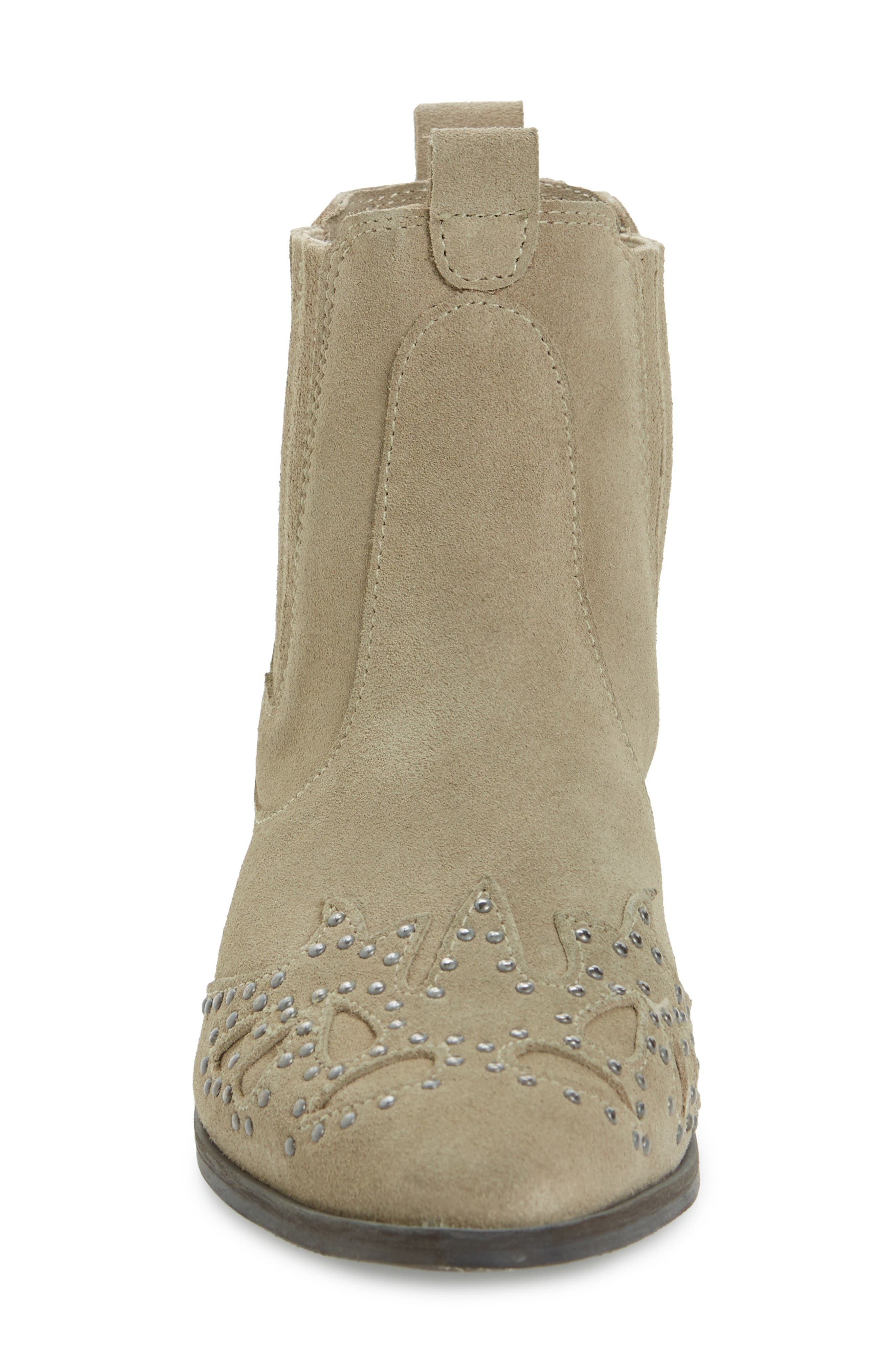 Backstage Bootie,                             Alternate thumbnail 3, color,                             Taupe Leather