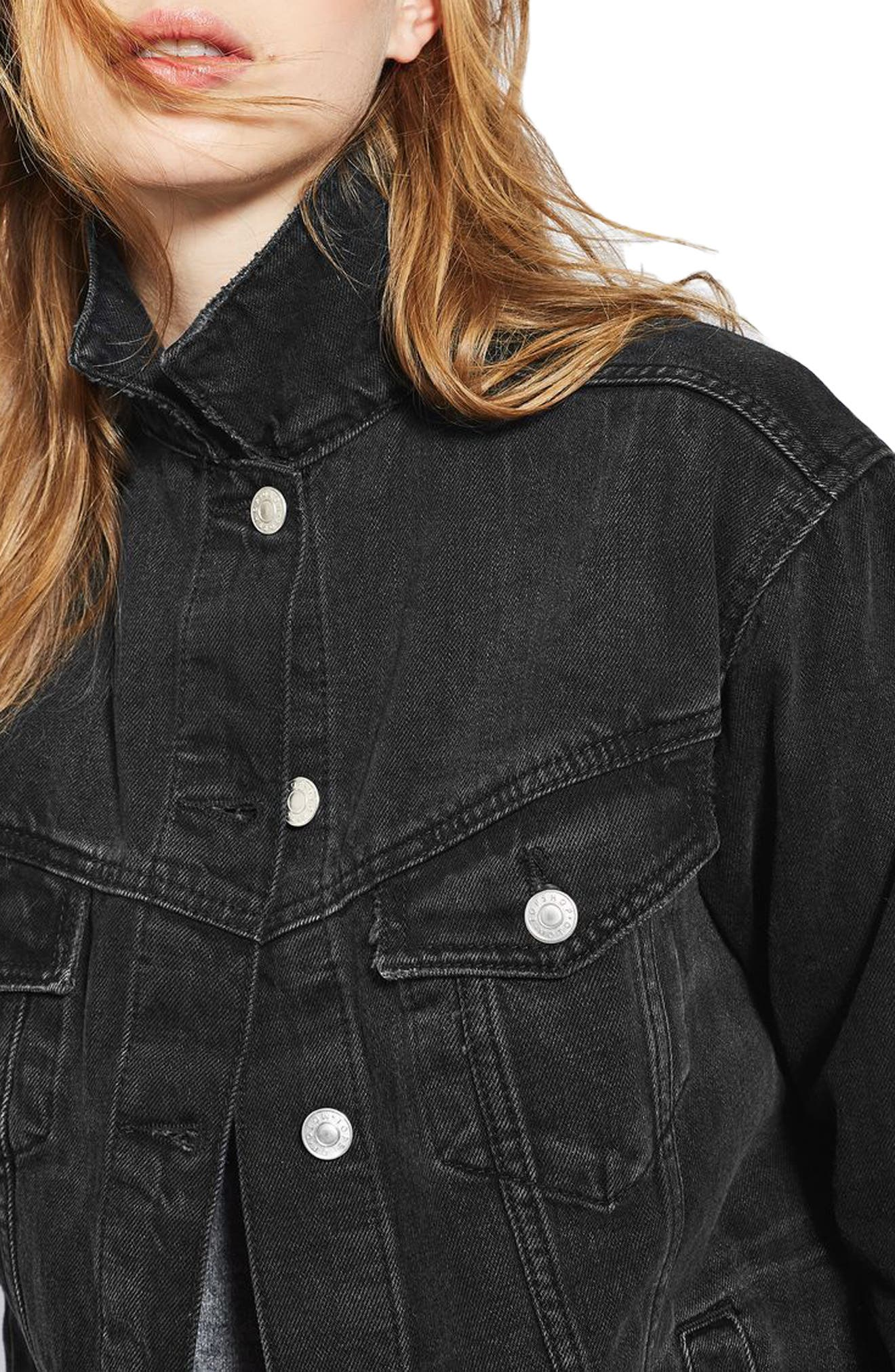 Alternate Image 4  - Topshop Oversize Denim Jacket