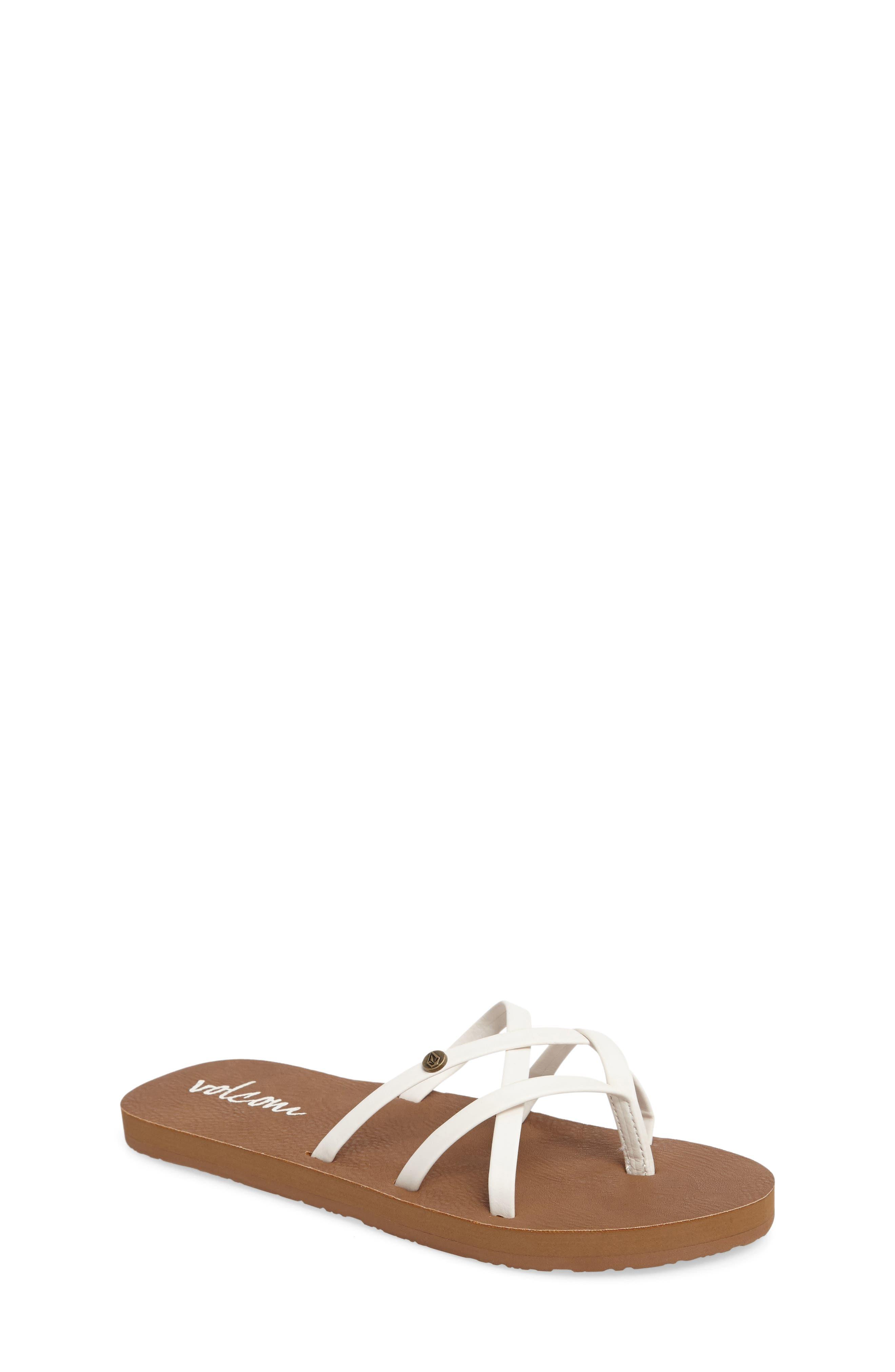 New School Flip Flop,                         Main,                         color, White