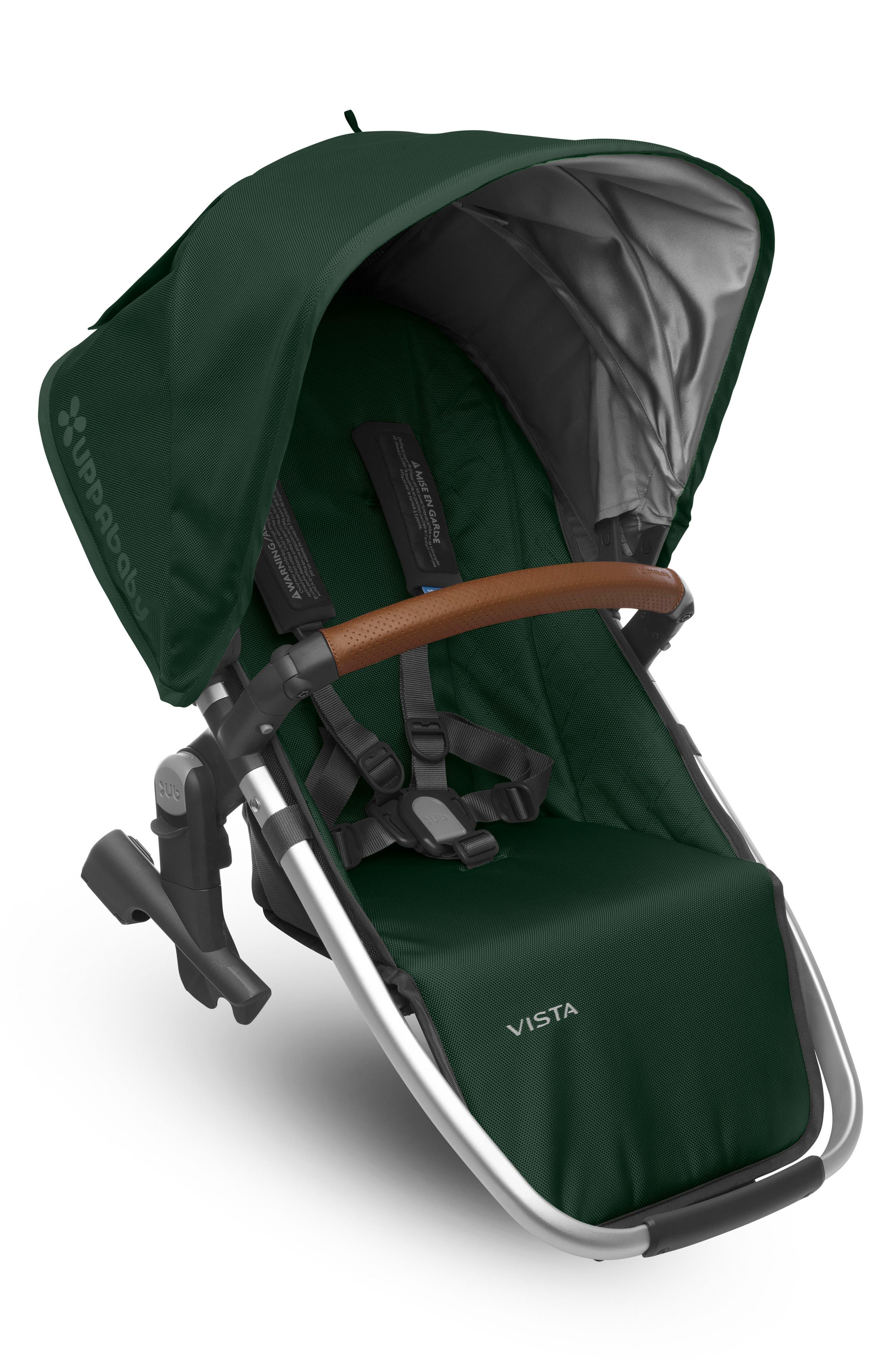 VISTA Stroller Rumble Seat,                             Main thumbnail 1, color,                             Hunter/ Silver