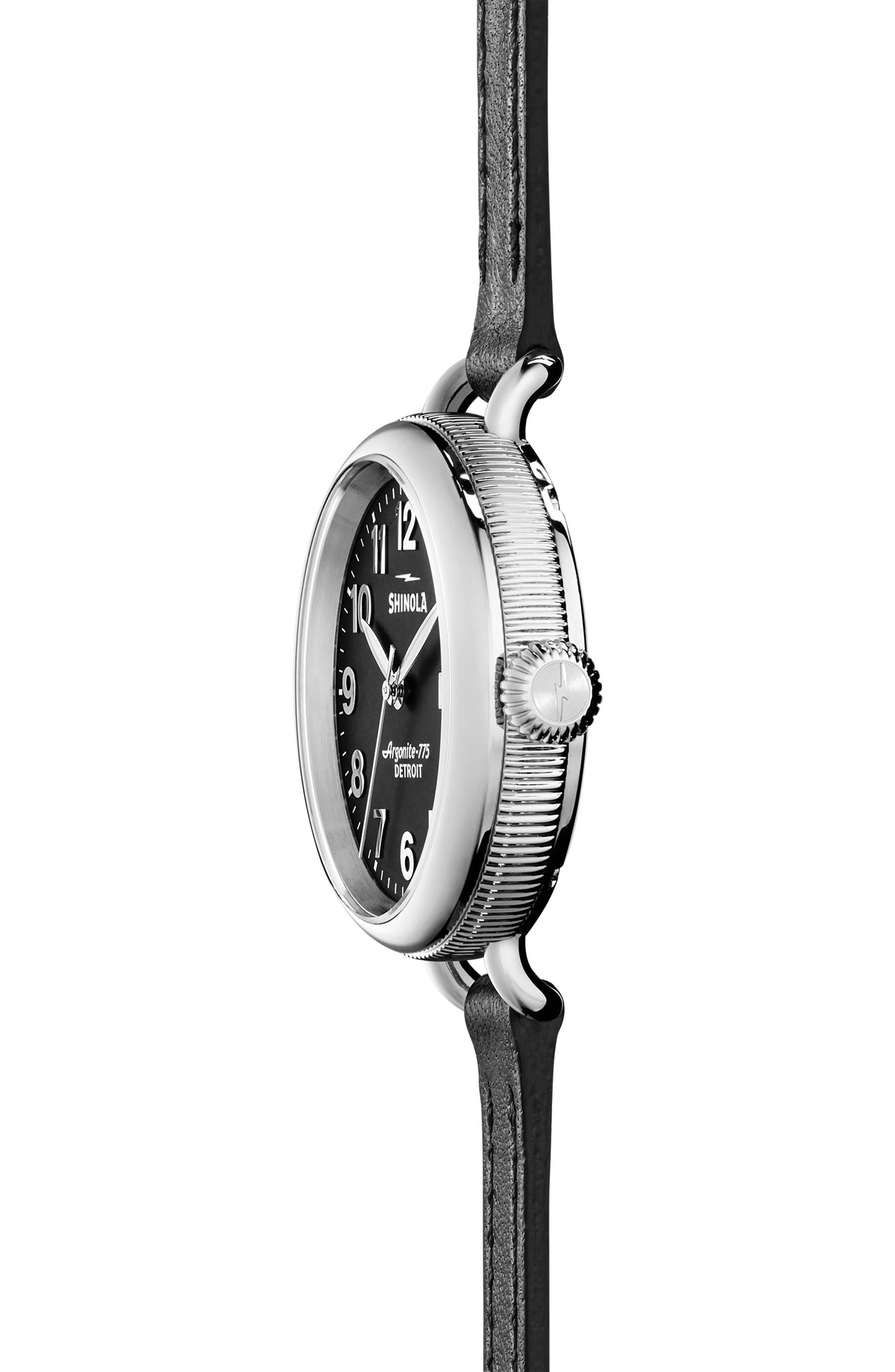 Alternate Image 3  - Shinola The Birdy Leather Strap Watch, 34mm