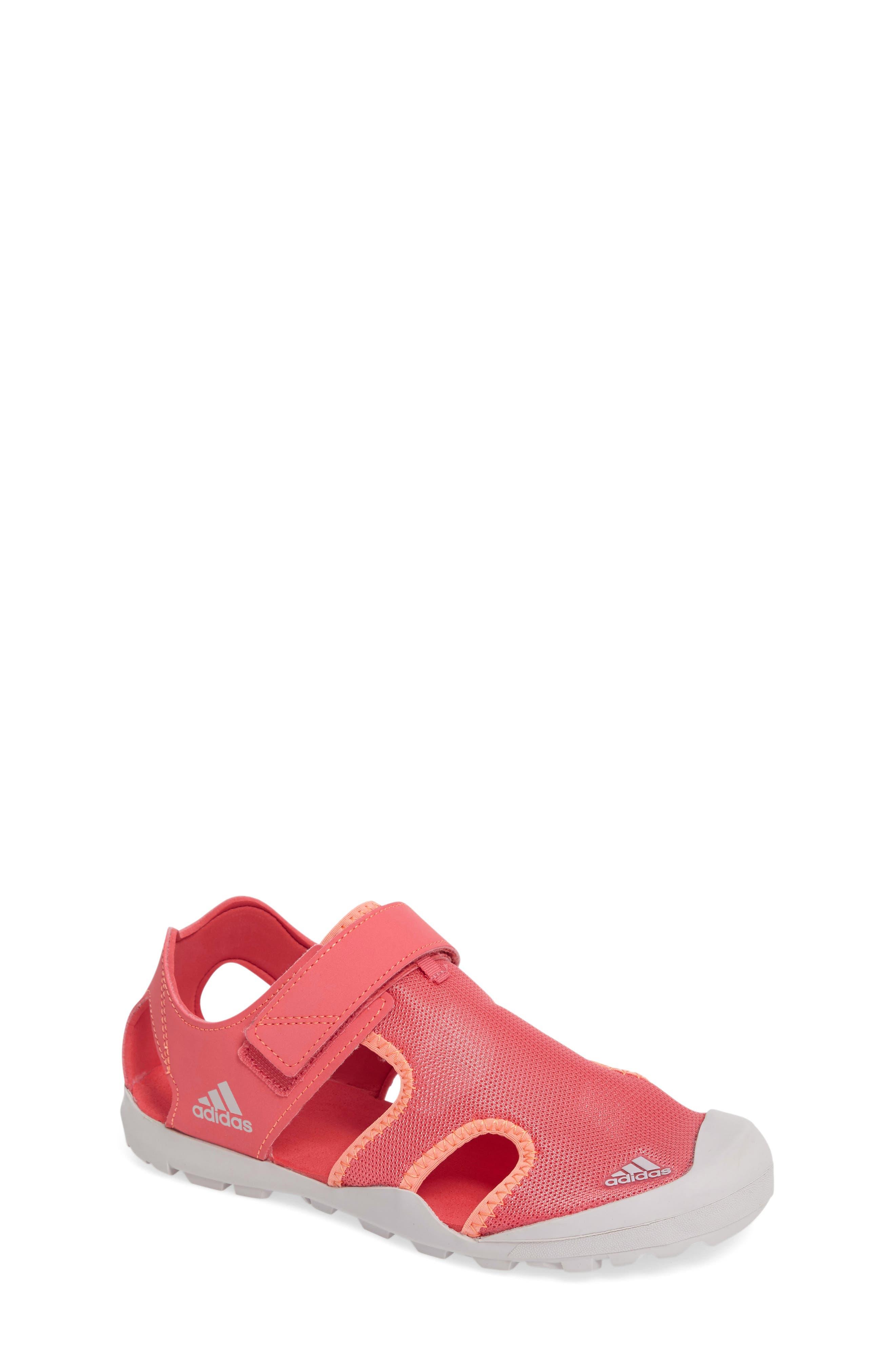 Captain Toey Sandal,                             Main thumbnail 1, color,                             Tactile Pink/ Purple/ Orange