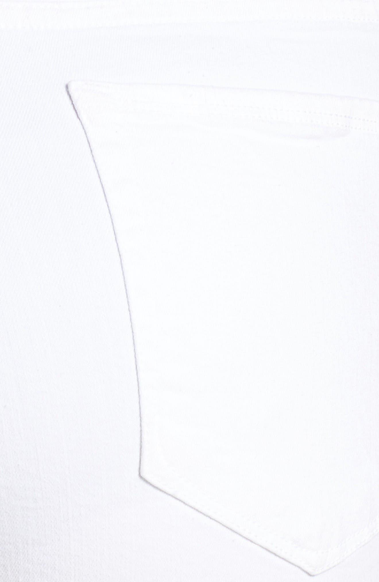 Destroyed Cutoff Denim Shorts,                             Alternate thumbnail 5, color,                             White 004