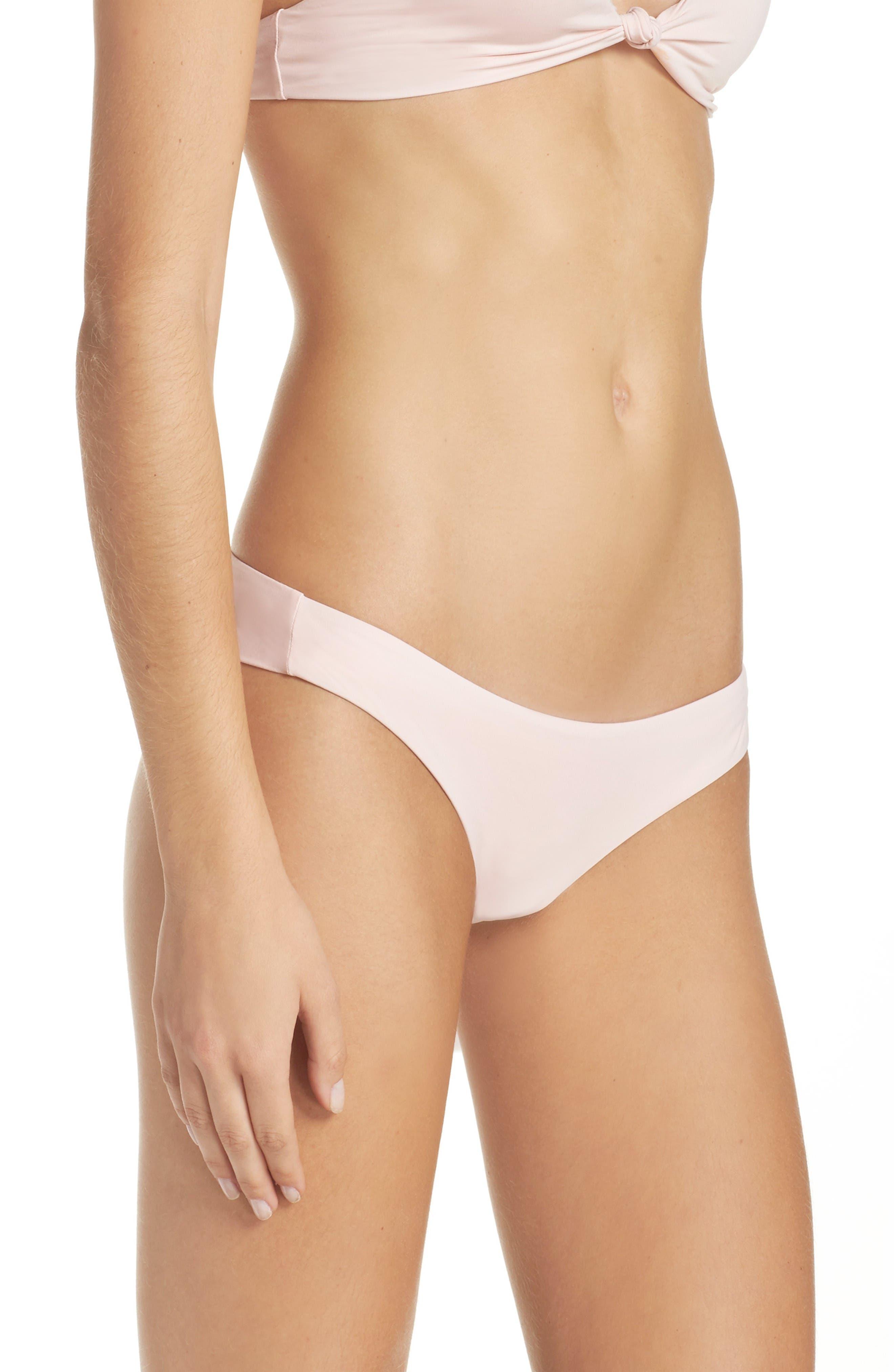 Marina Bikini Bottoms,                             Alternate thumbnail 3, color,                             Blush