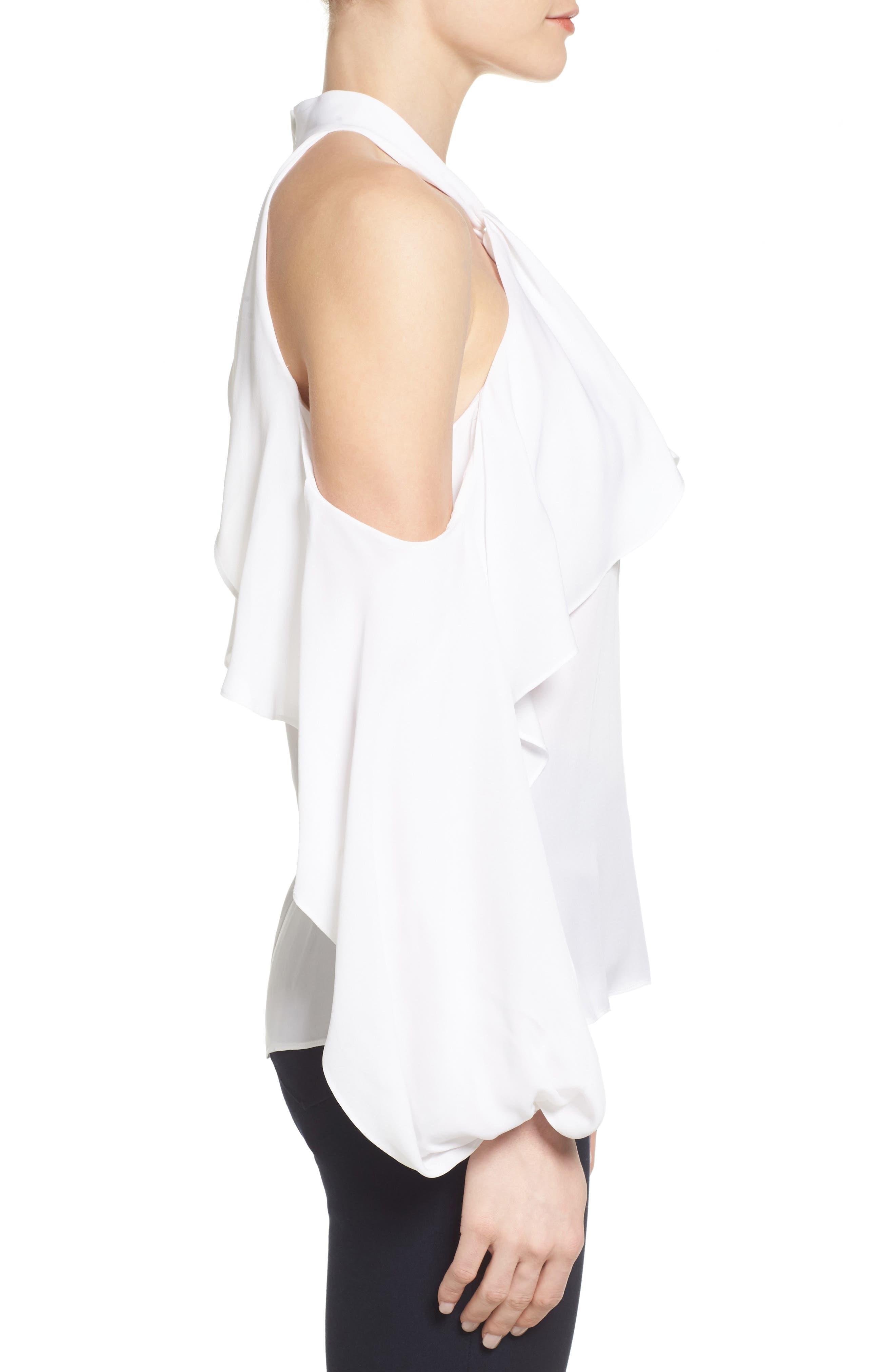 Alternate Image 3  - Kobi Halperin Adrienne Cold Shoulder Silk Blouse