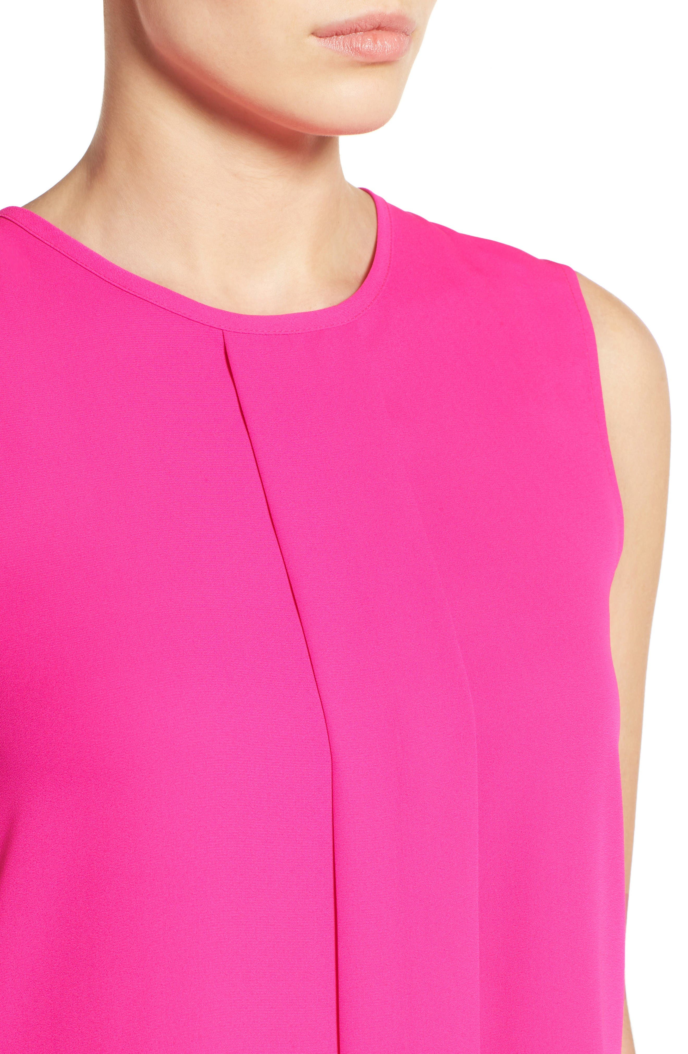 Alternate Image 4  - Vince Camuto Center Pleat Sleeveless Blouse