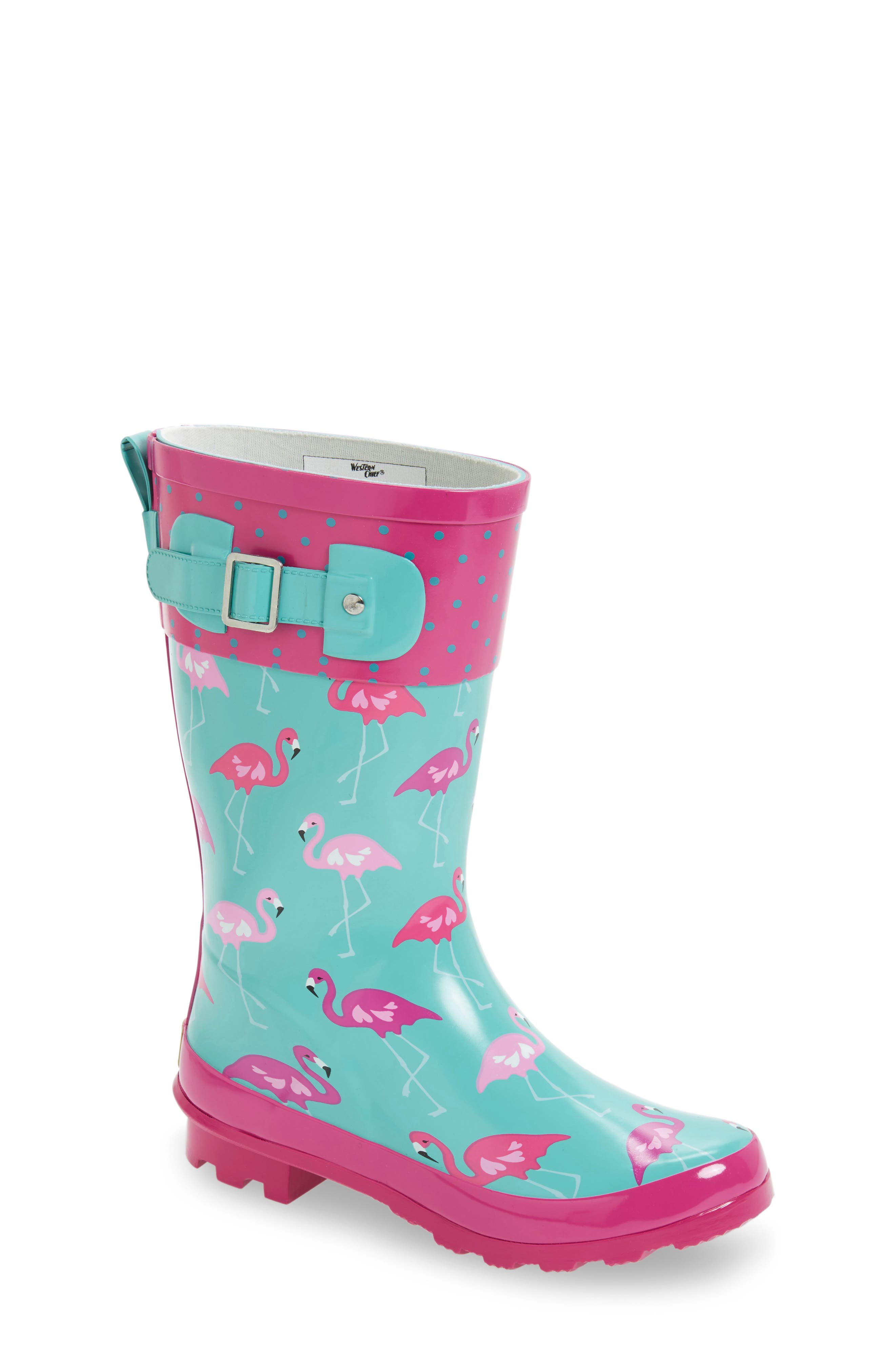 Western Chief Classic Flamingo Rain Boot (Toddler, Little Kid & Big Kid)