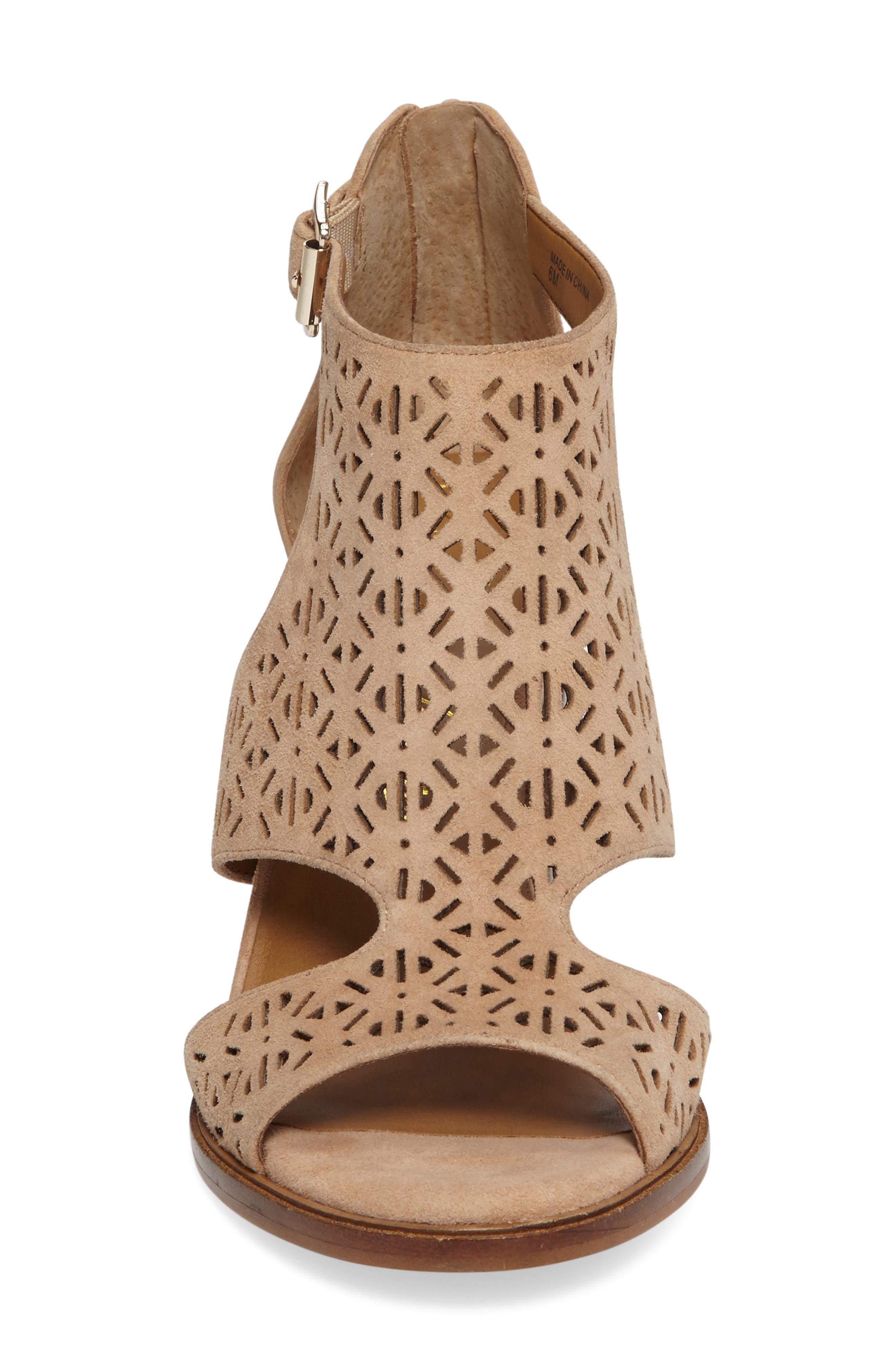 Edythe Block Heel Sandal,                             Alternate thumbnail 3, color,                             Tan Suede