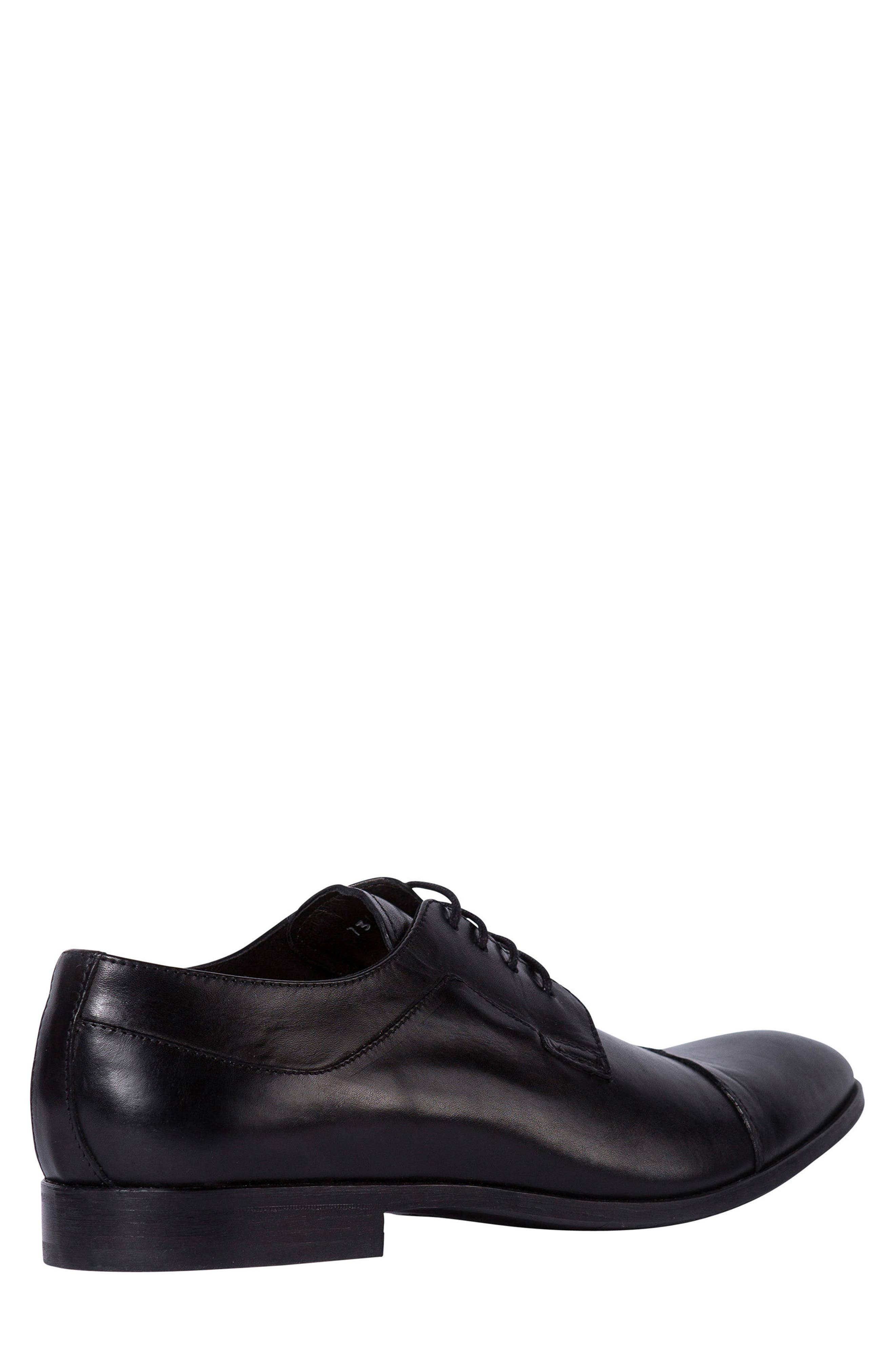 Admiral's Way Cap Toe Derby,                             Alternate thumbnail 2, color,                             Nero Leather