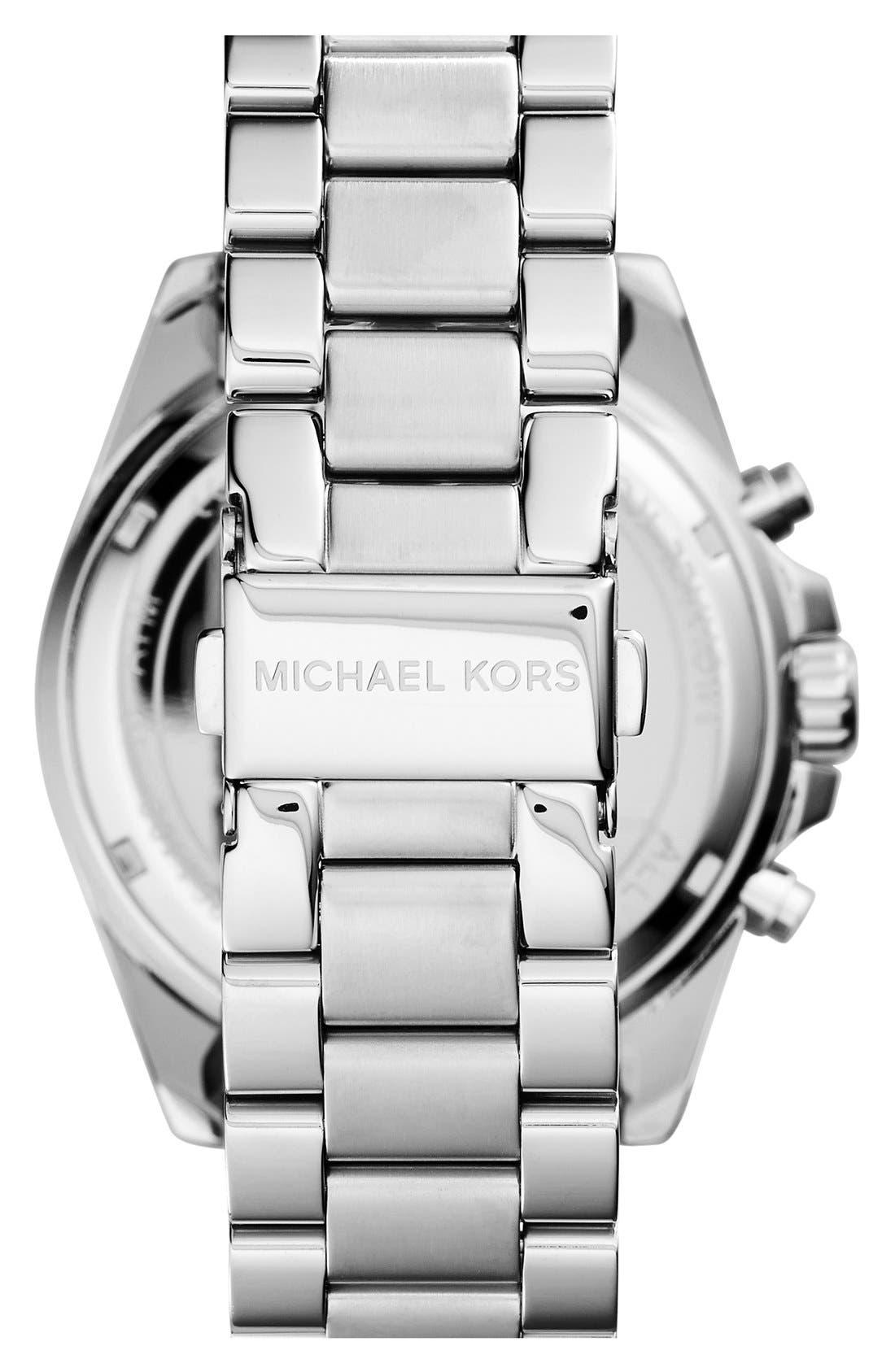 Alternate Image 2  - Michael Kors Bradshaw Chronograph Bracelet Watch, 43mm
