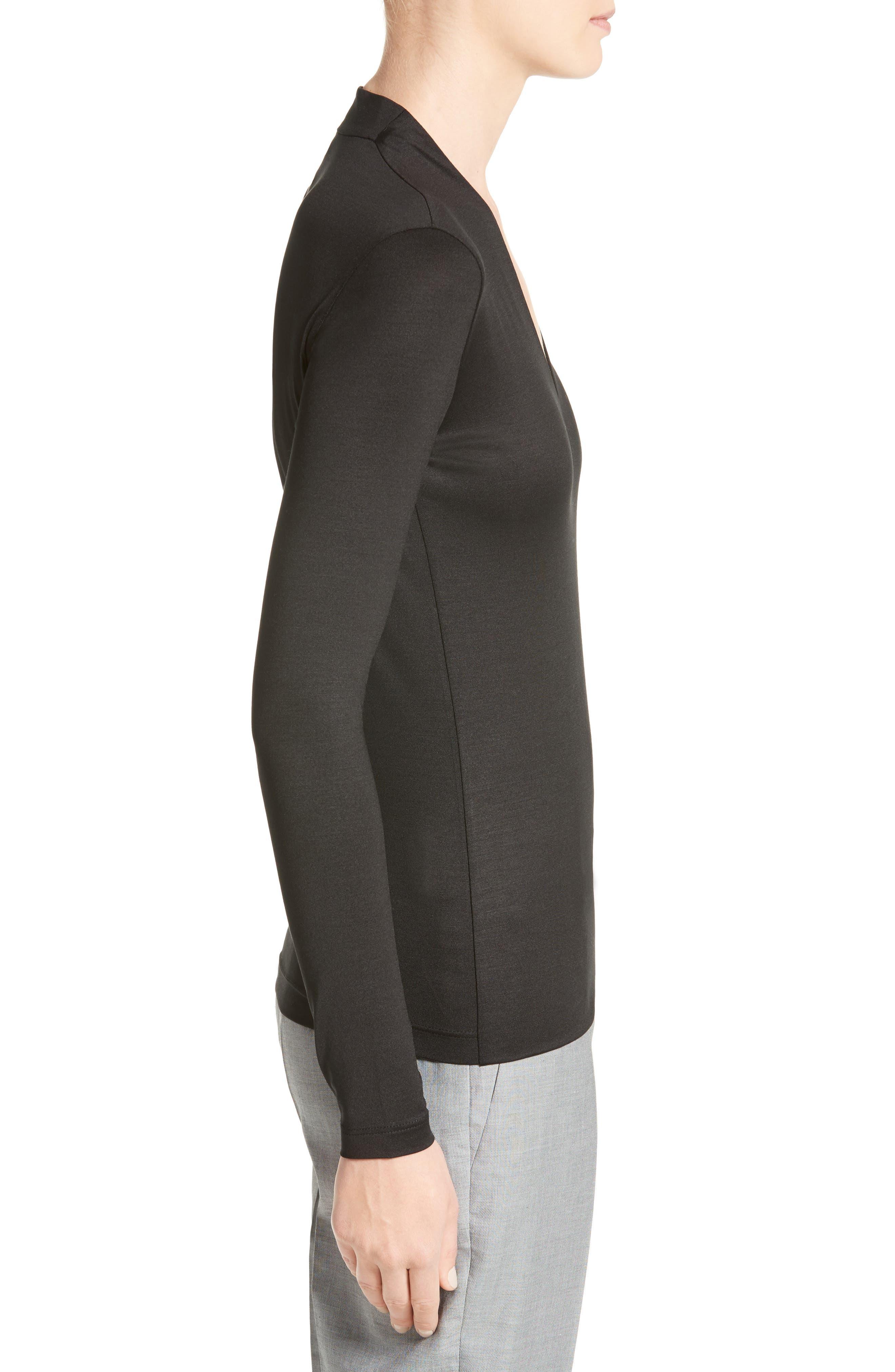 Alternate Image 5  - Akris Long Sleeve Silk Jersey Blouse