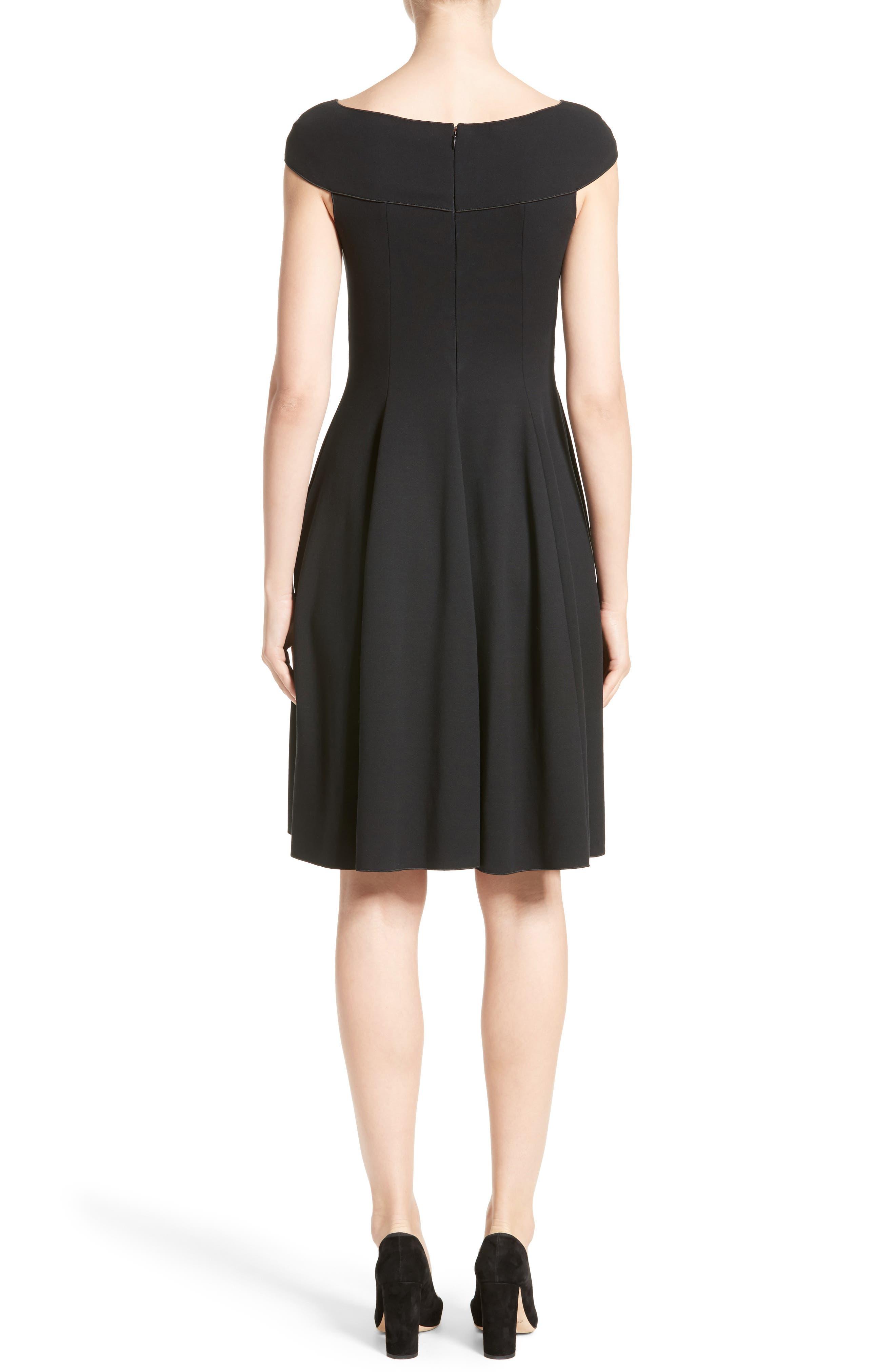 Alternate Image 2  - Armani Collezioni Off the Shoulder Fit & Flare Dress