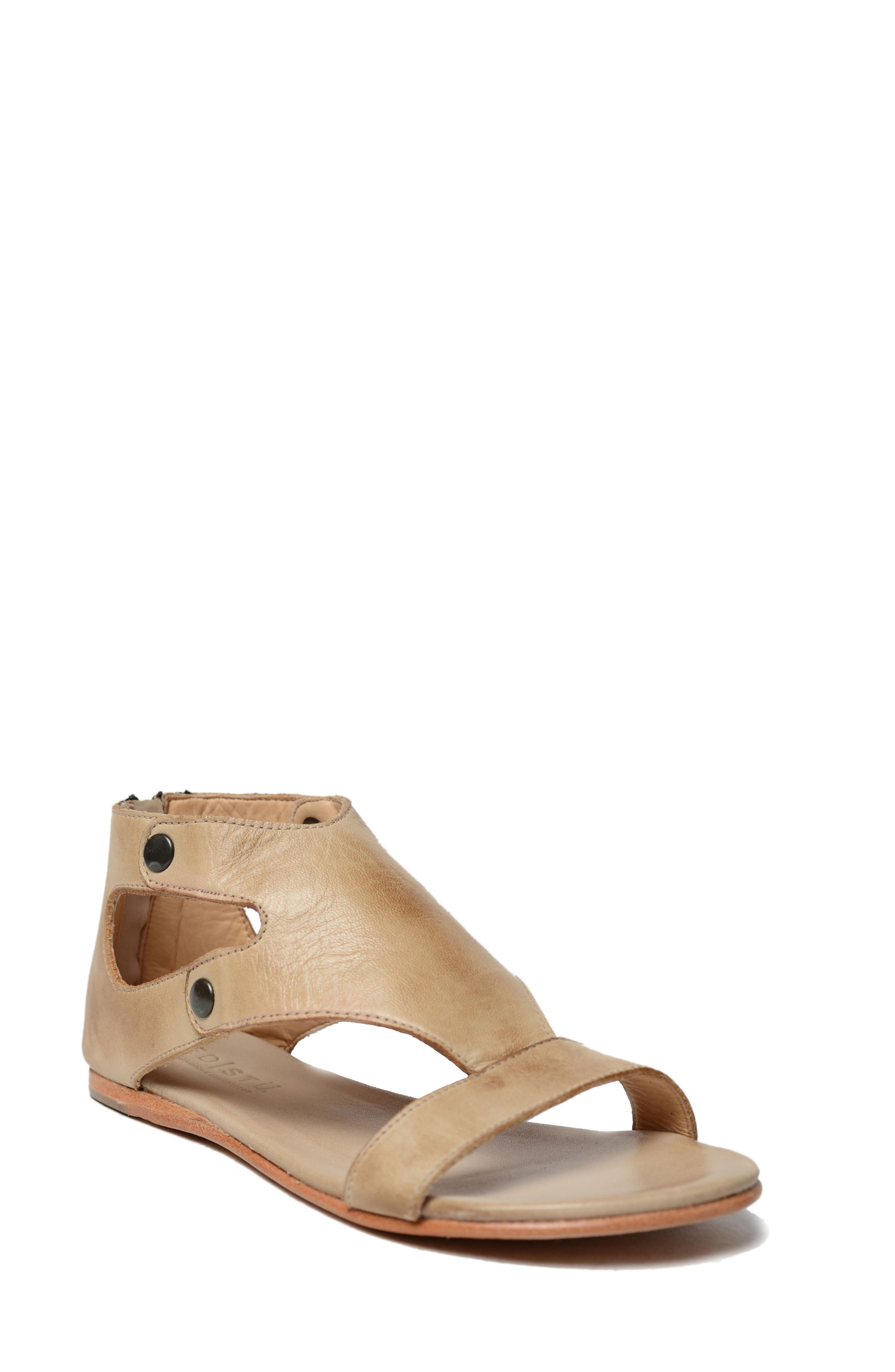 Soto Sandal,                             Main thumbnail 1, color,                             Sand Rustic Leather