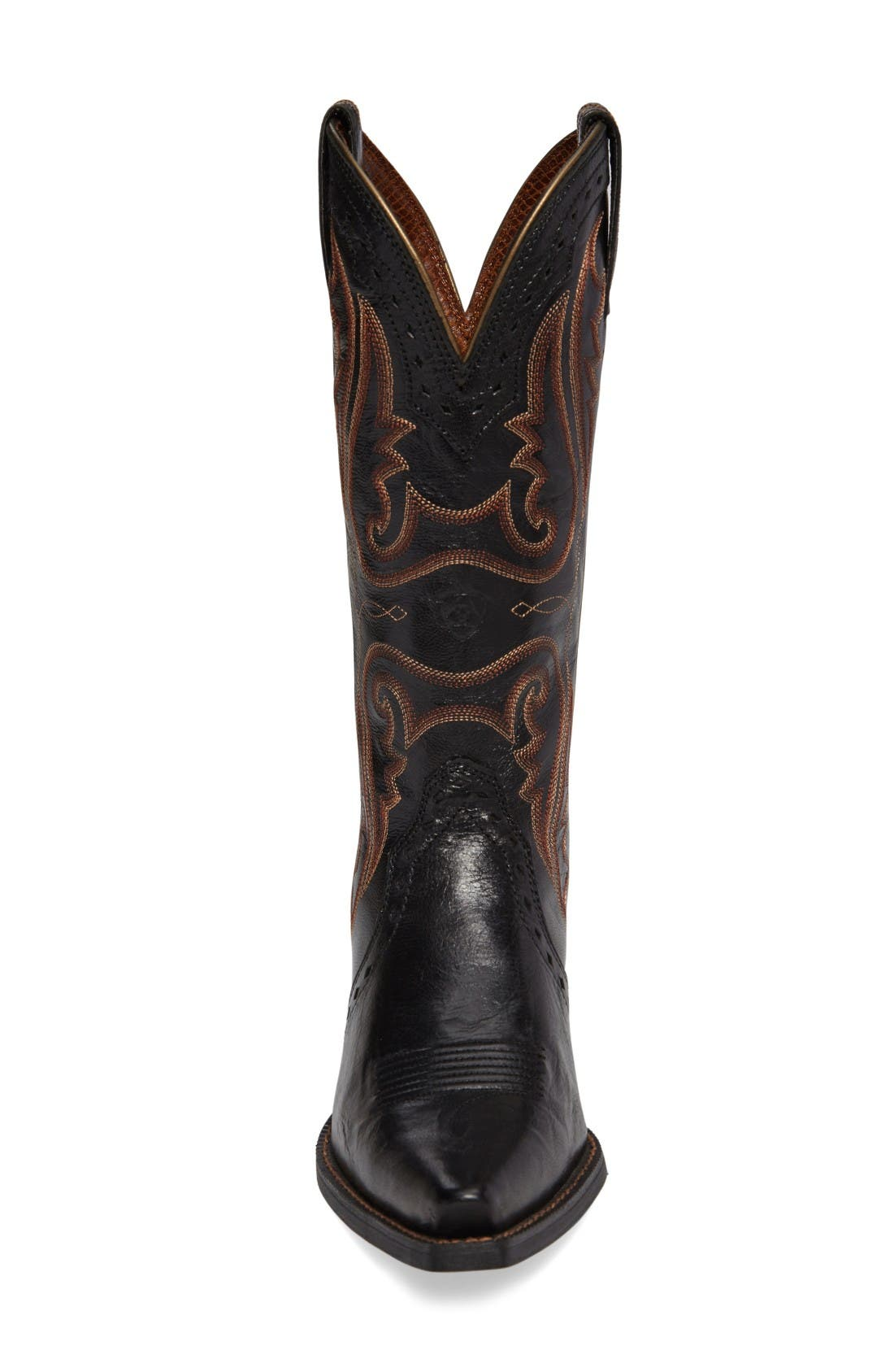 'Western Heritage X Toe' Boot,                             Alternate thumbnail 3, color,                             Old Black Leather