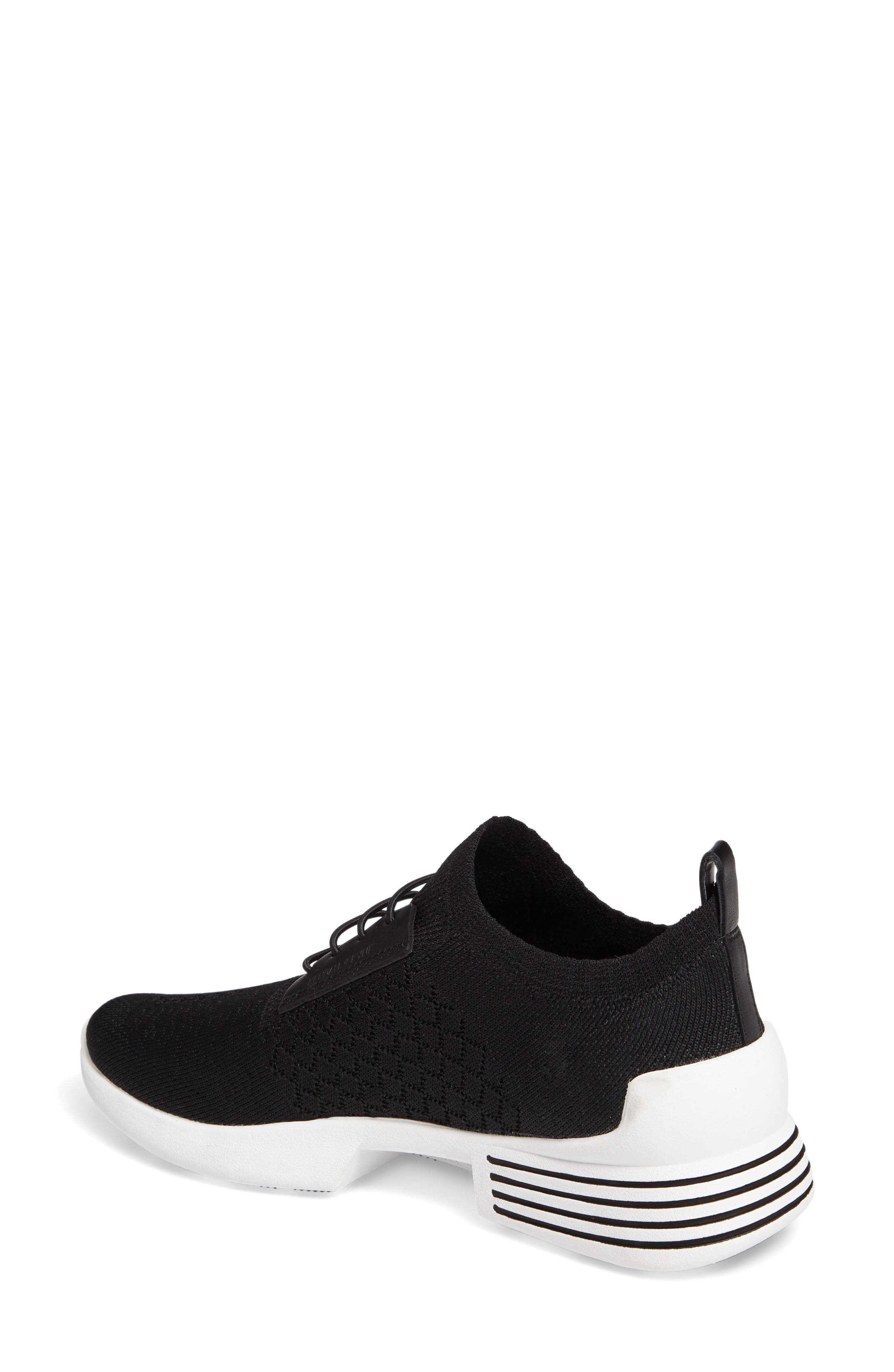 Brandy Woven Sneaker,                             Alternate thumbnail 2, color,                             Black/ Black Fabric